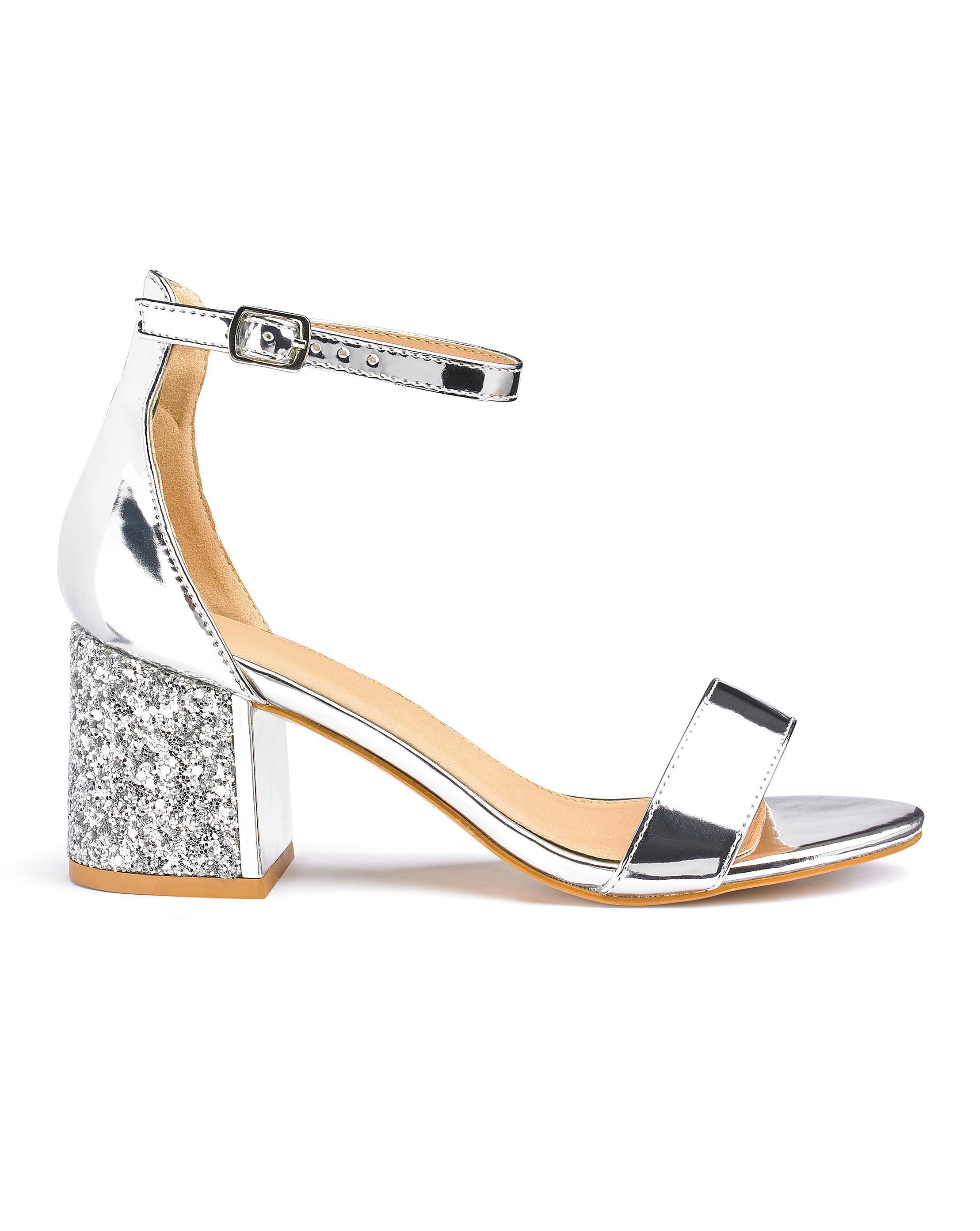 e03d1b80022 Lyst - Simply Be Anji Block Heels in Metallic