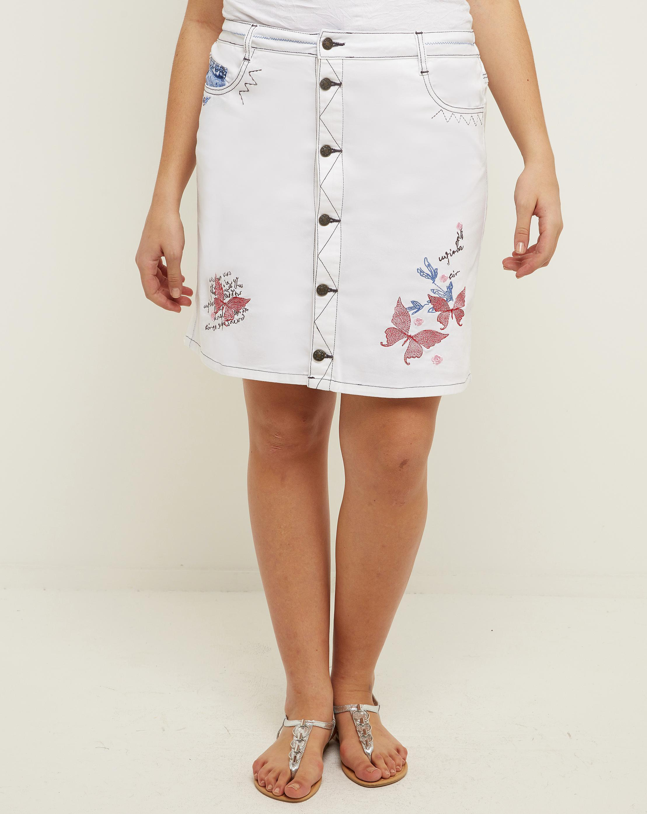 b21beef55c Lyst - Simply Be Joe Browns Applique Skirt in White