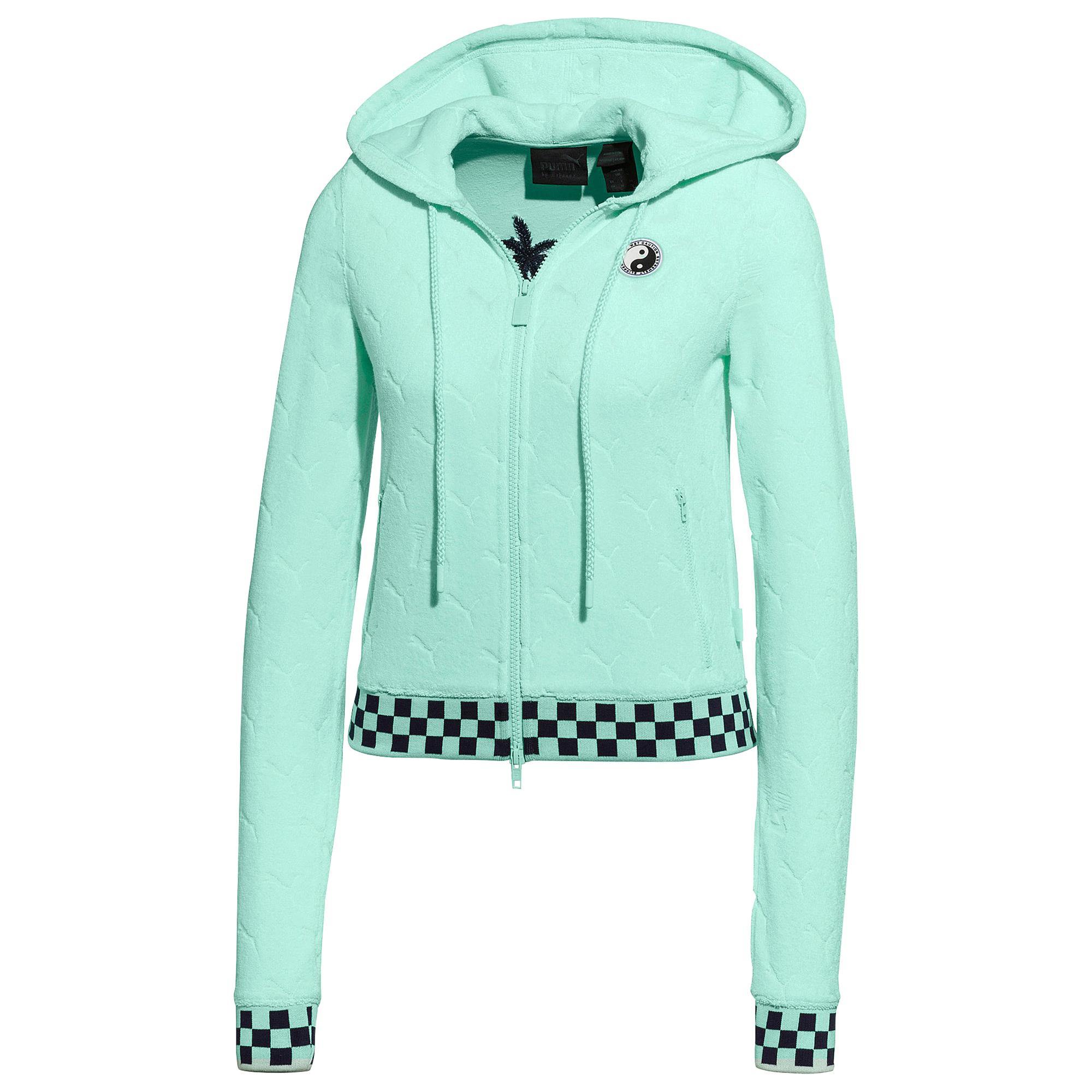 4d32c23ae9ba Lyst - PUMA Fenty Terry Zip Up Jacket in Green - Save 40%