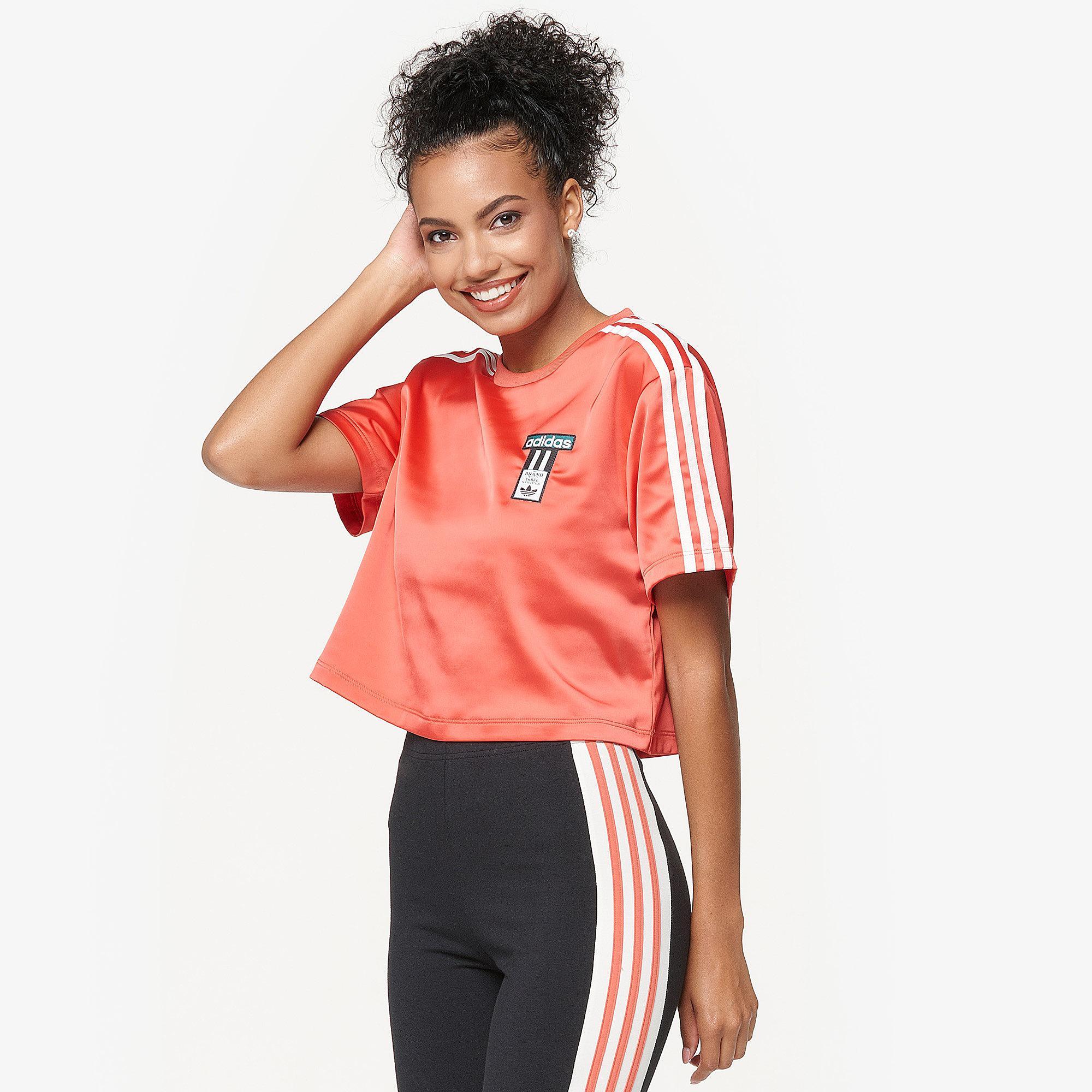 be9f2f7b5c5c adidas Originals Adibreak T-shirt in Red - Lyst