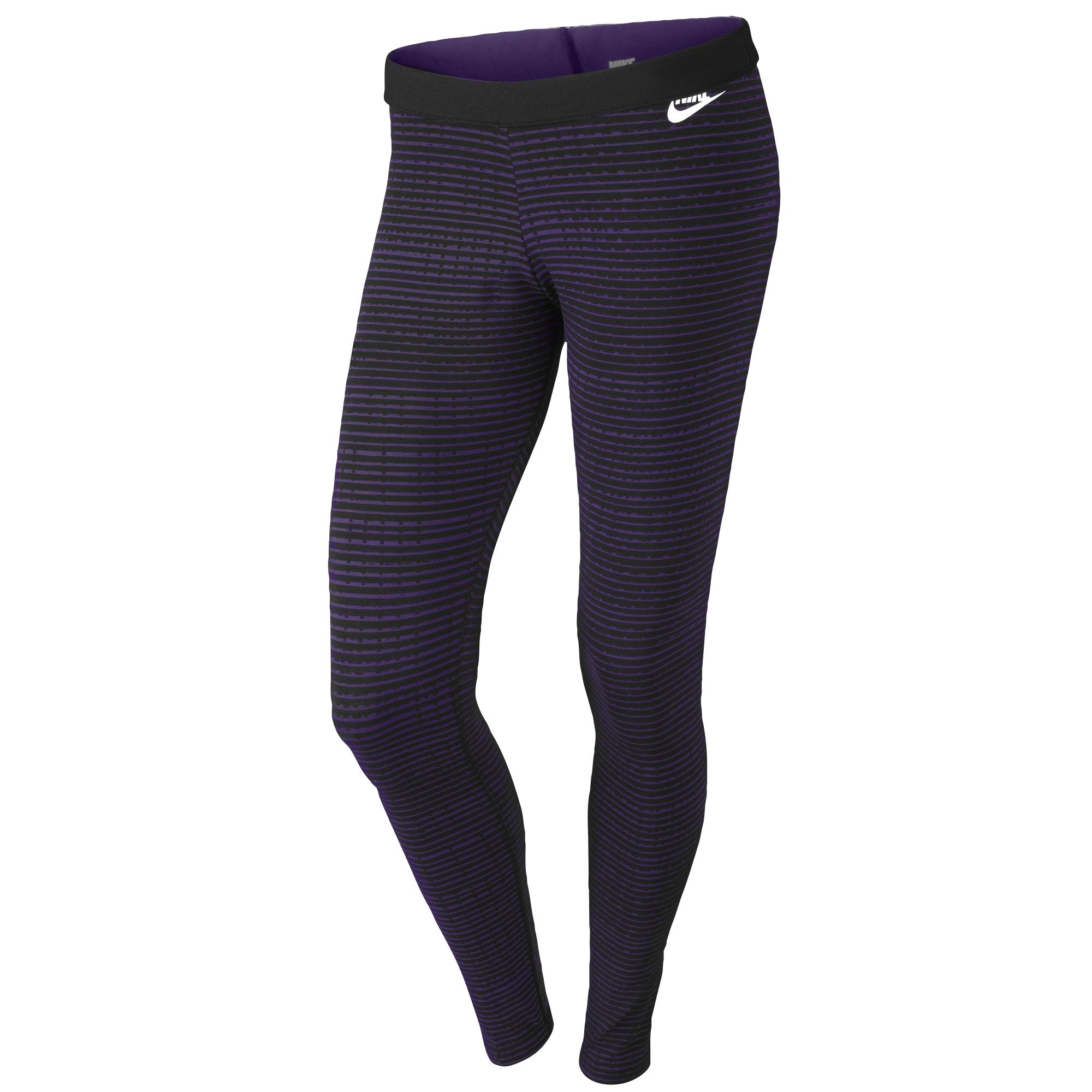 new concept 6c71c 4aa5b Lyst - Nike Leg-a-see Printed Leggings in Purple