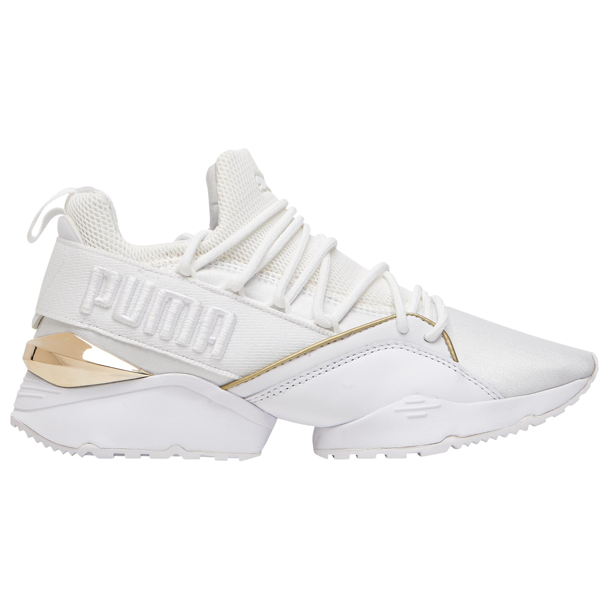 Lyst - PUMA Muse Maia Varsity in White - Save 3% 88bd3f678