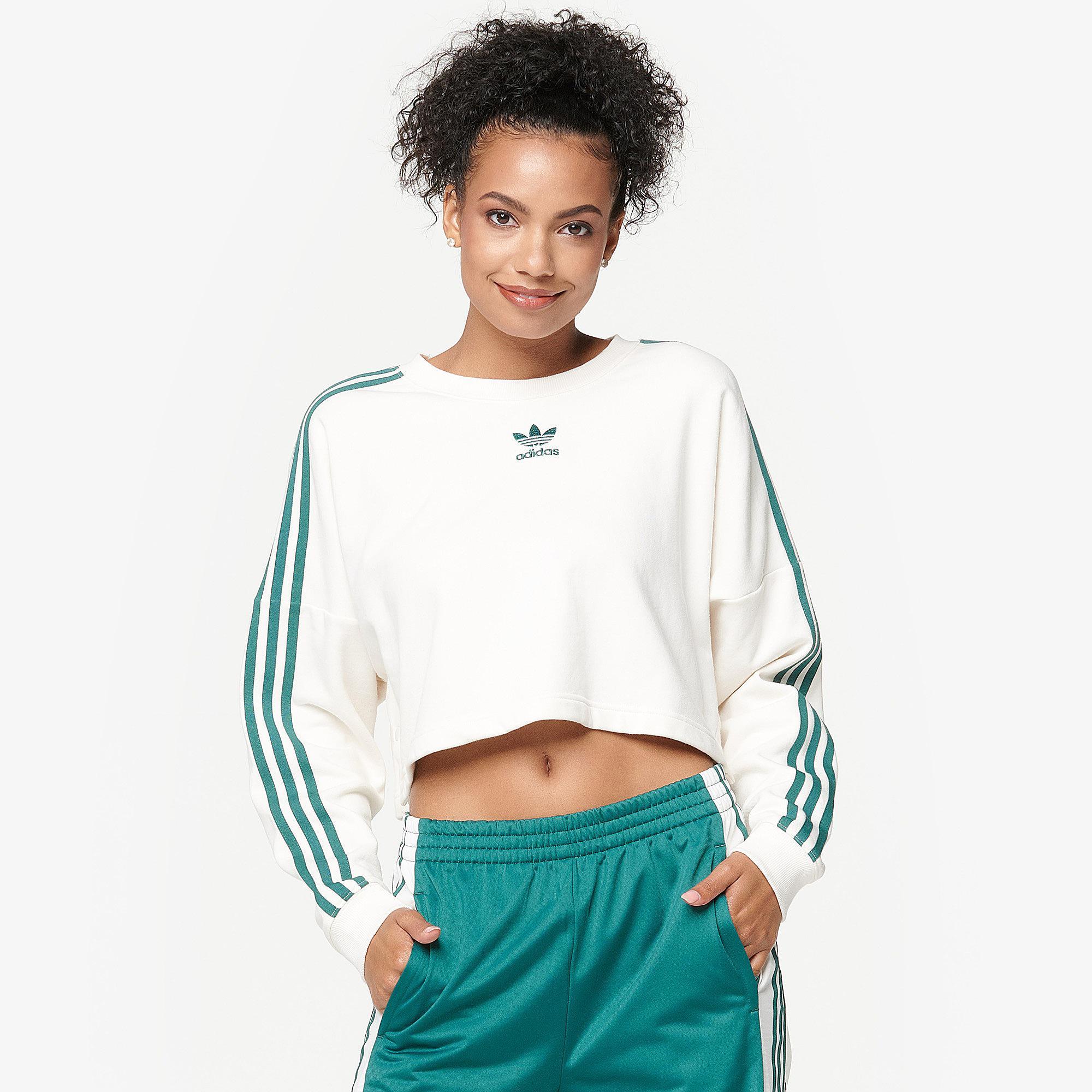 Adibreak Adidas Cropped Lyst White Sweater Originals nwOPk0