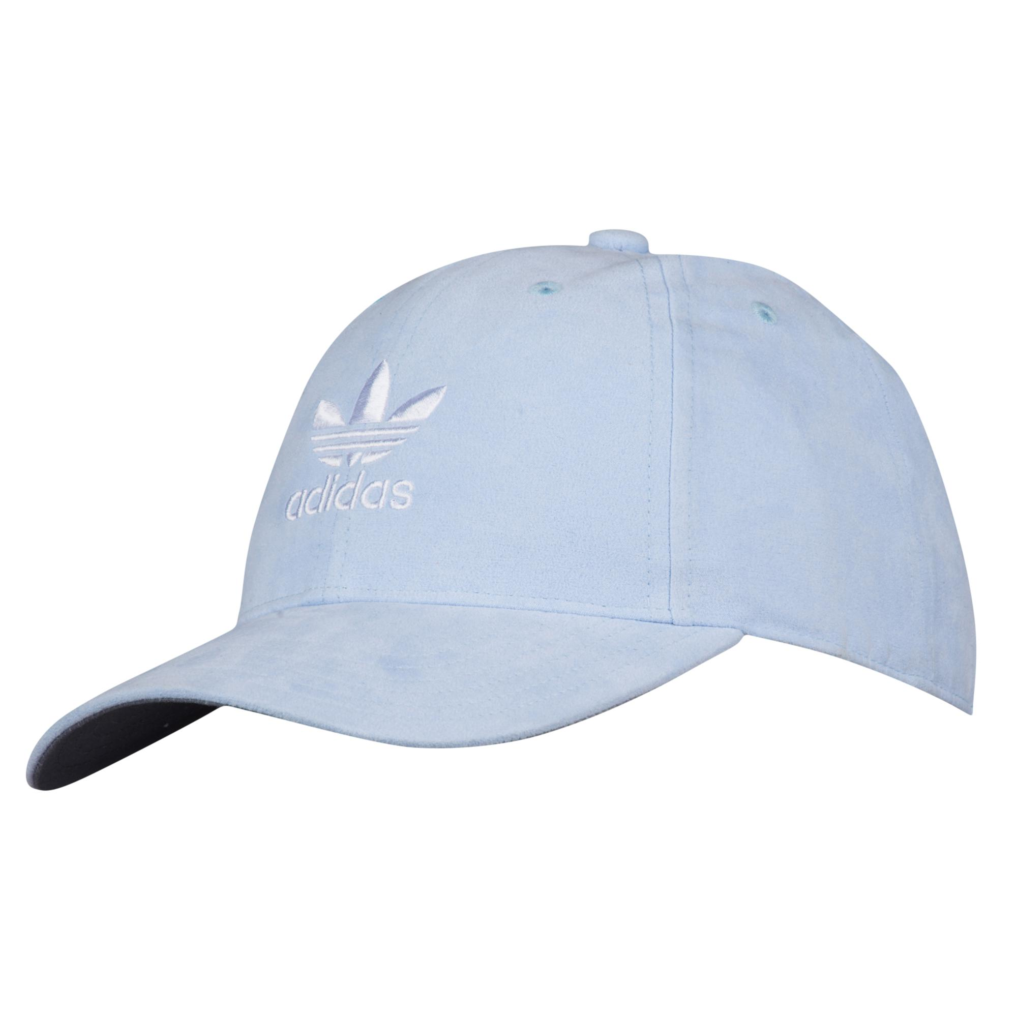 08929ace Lyst - adidas Originals Suede Relaxed Strapback Hat in Blue