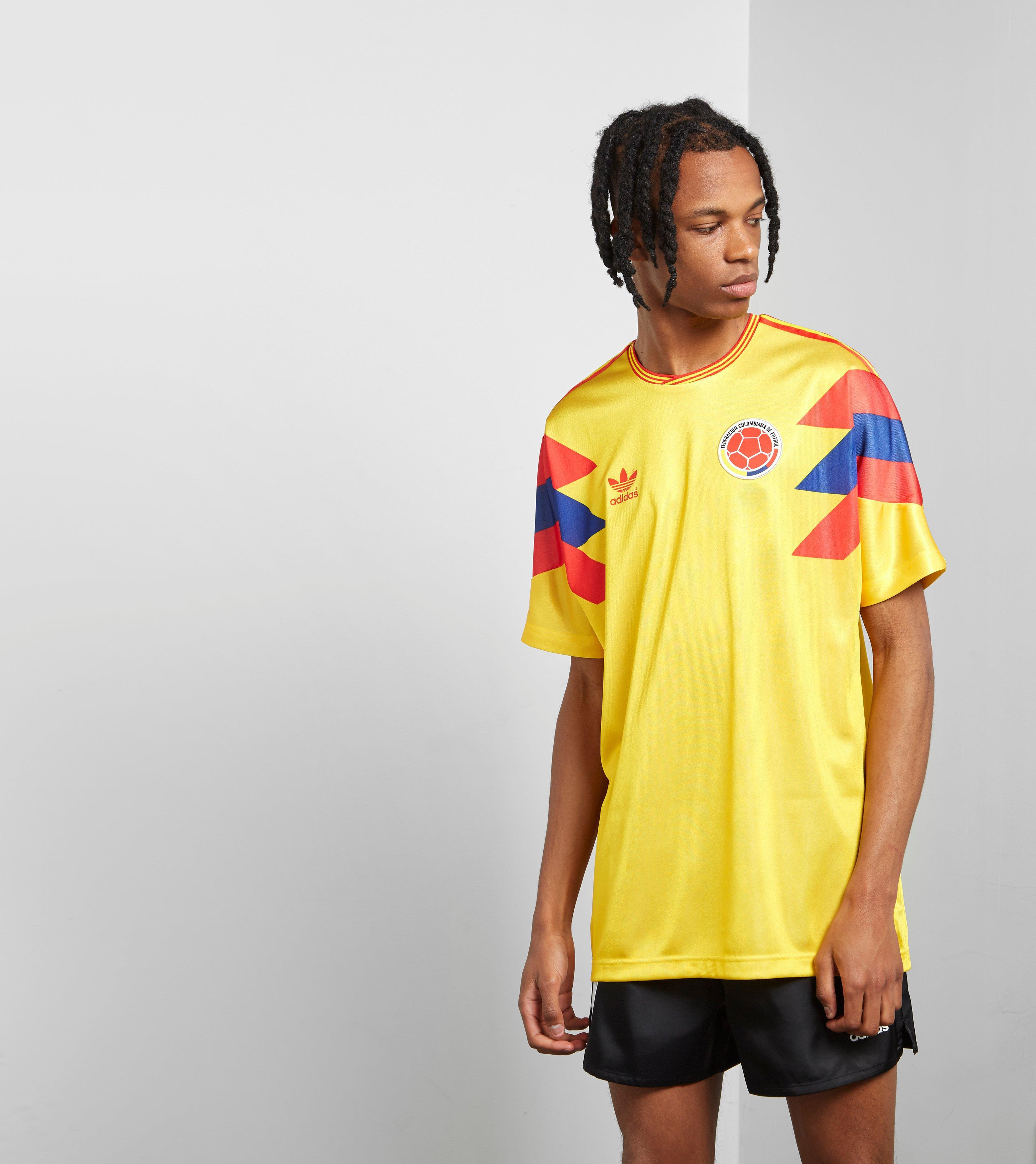 Lyst Adidas Originals Colombia 1990 Football Jersey In Yellow For Men