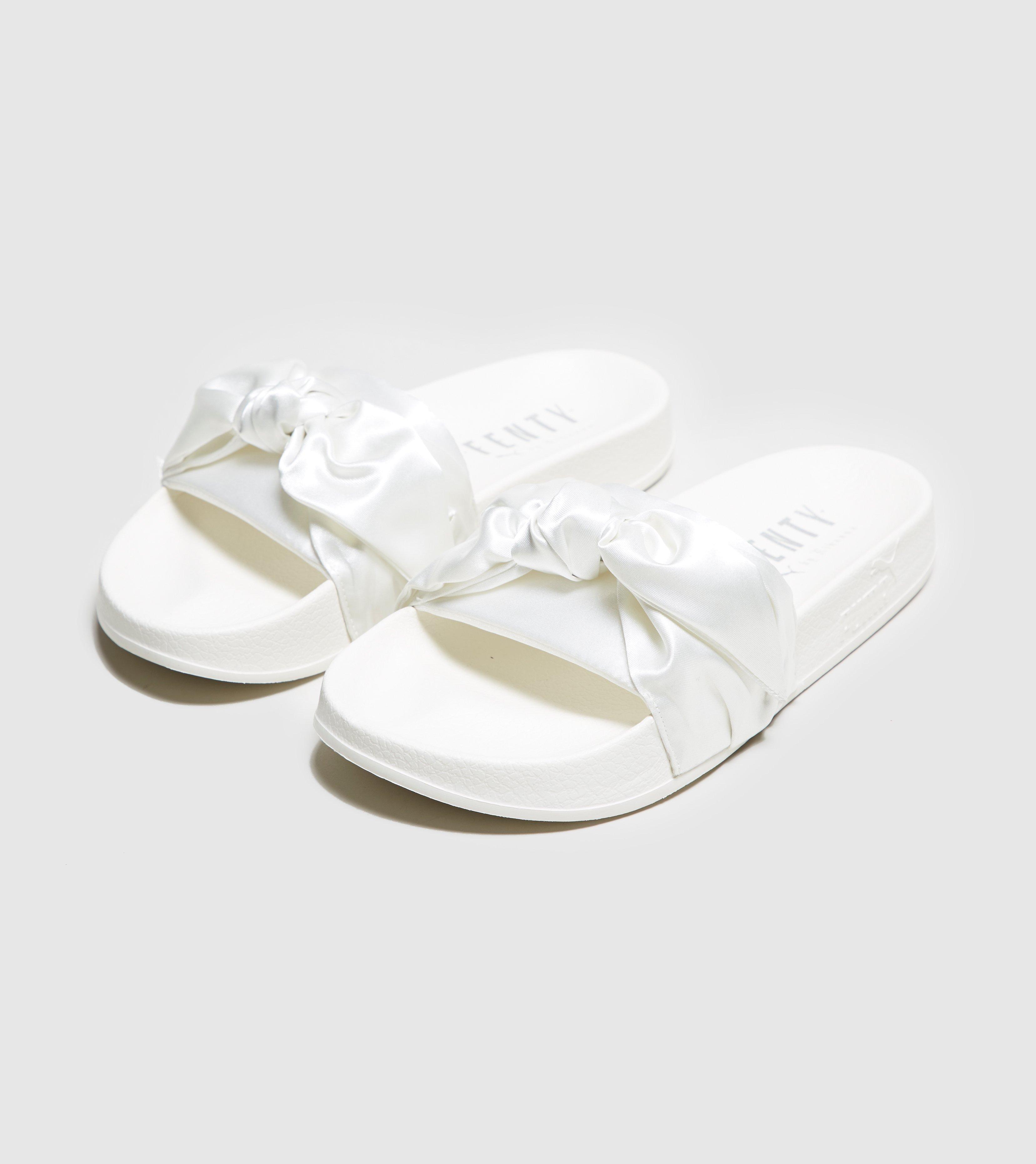 13516568ed8f Lyst - PUMA Fenty Bow Slide Women s in White