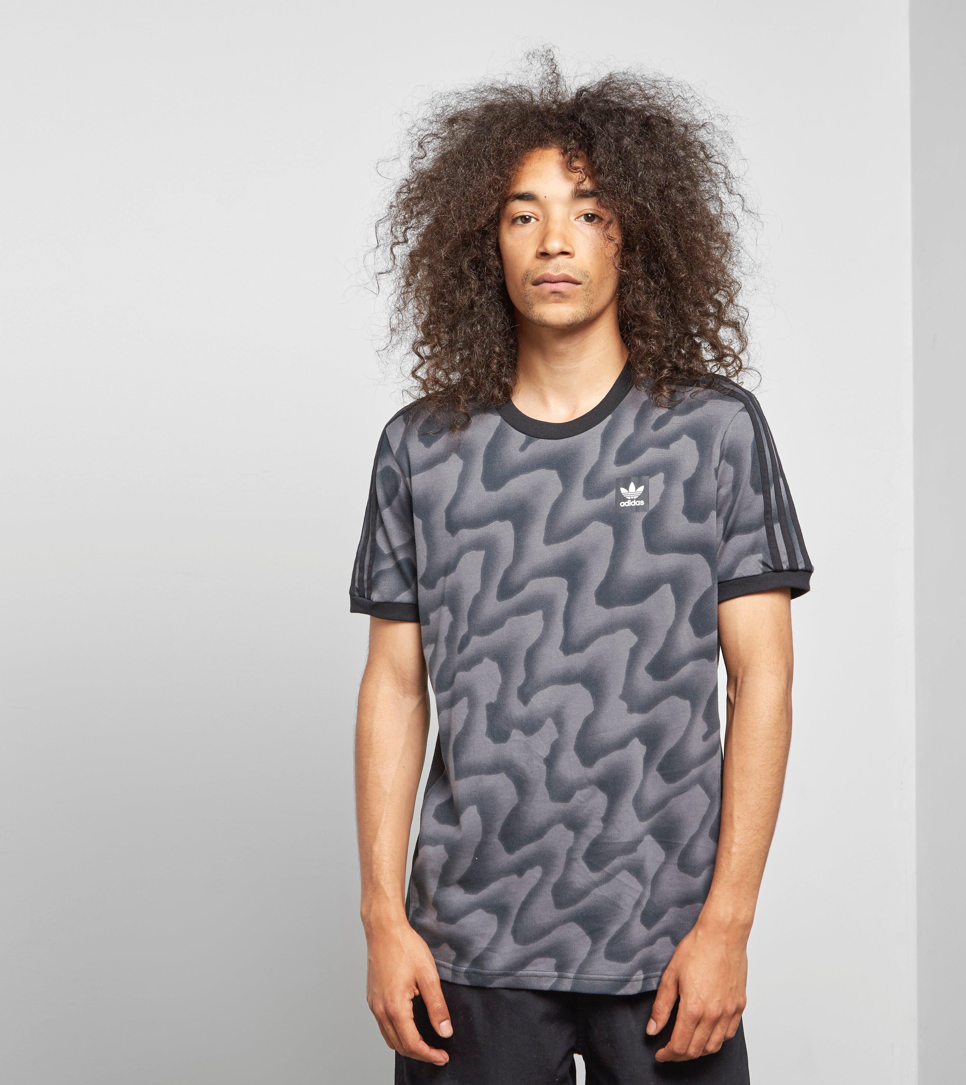 e986194967 Lyst - adidas Originals Skateboarding Warp Camo T-shirt in Black for Men