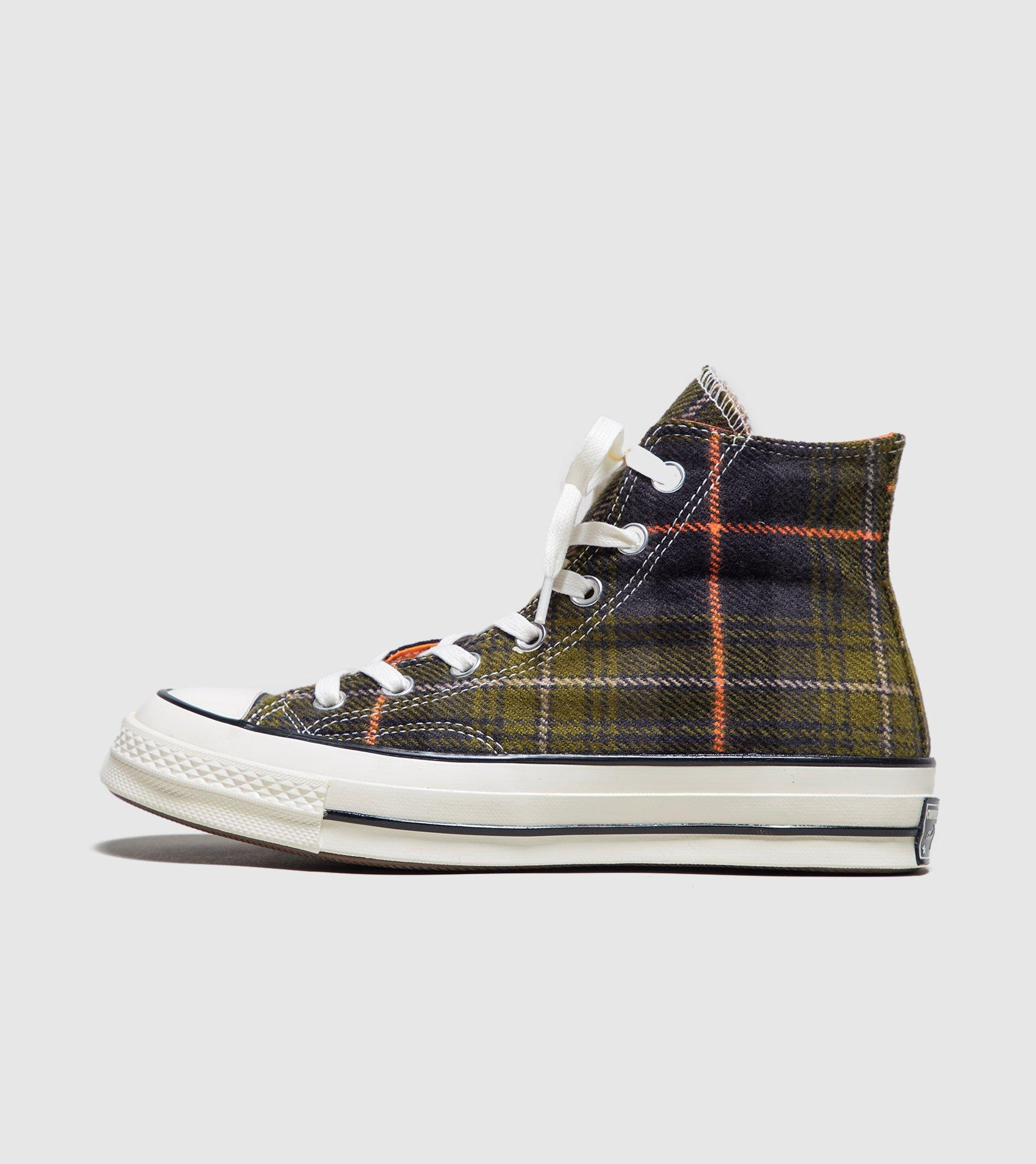 3bd494f1c63 Lyst - Converse Chuck Taylor All Star 70 s High Plaid Women s in Green