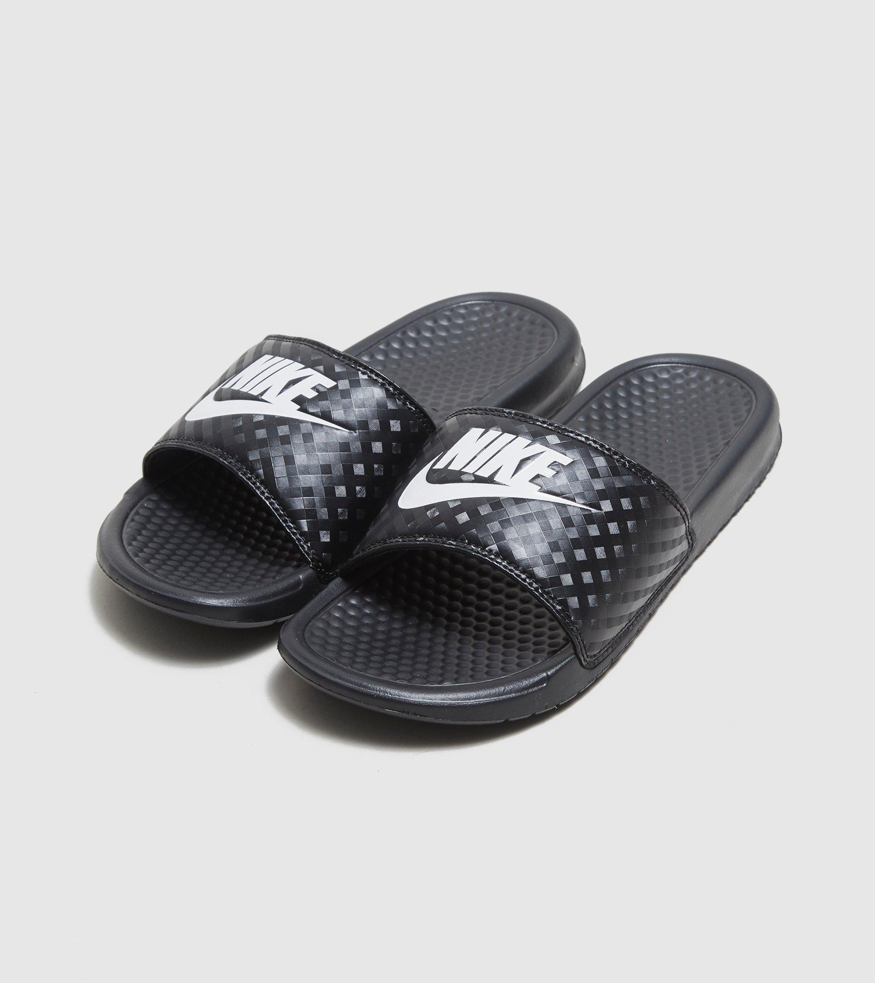 4df6015bcd66 Lyst - Nike Benassi Just Do It Slides Women s in Black for Men