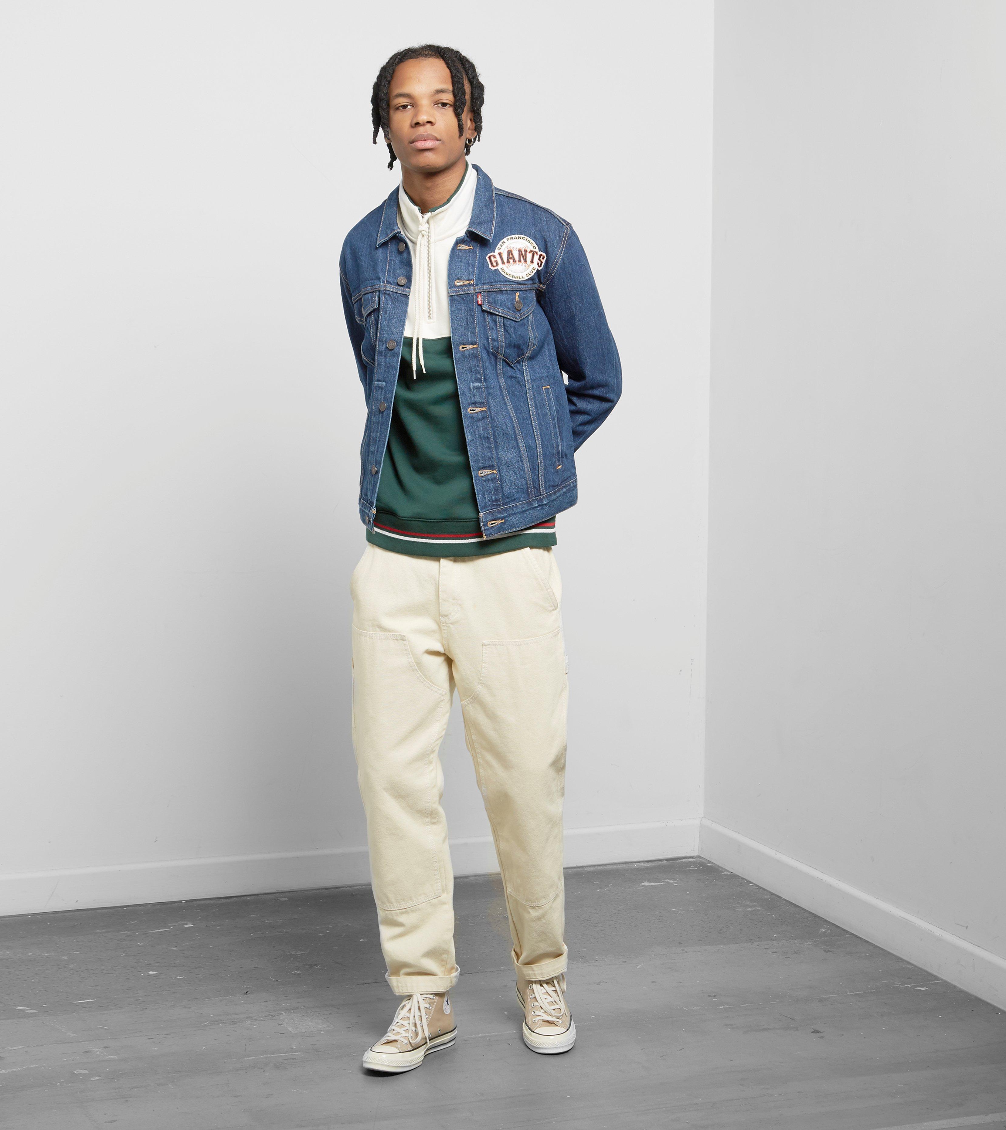 Levis X Mlb San Francisco Giants Trucker Jacket In Blue For Jaket Wanita Jeans Gallery
