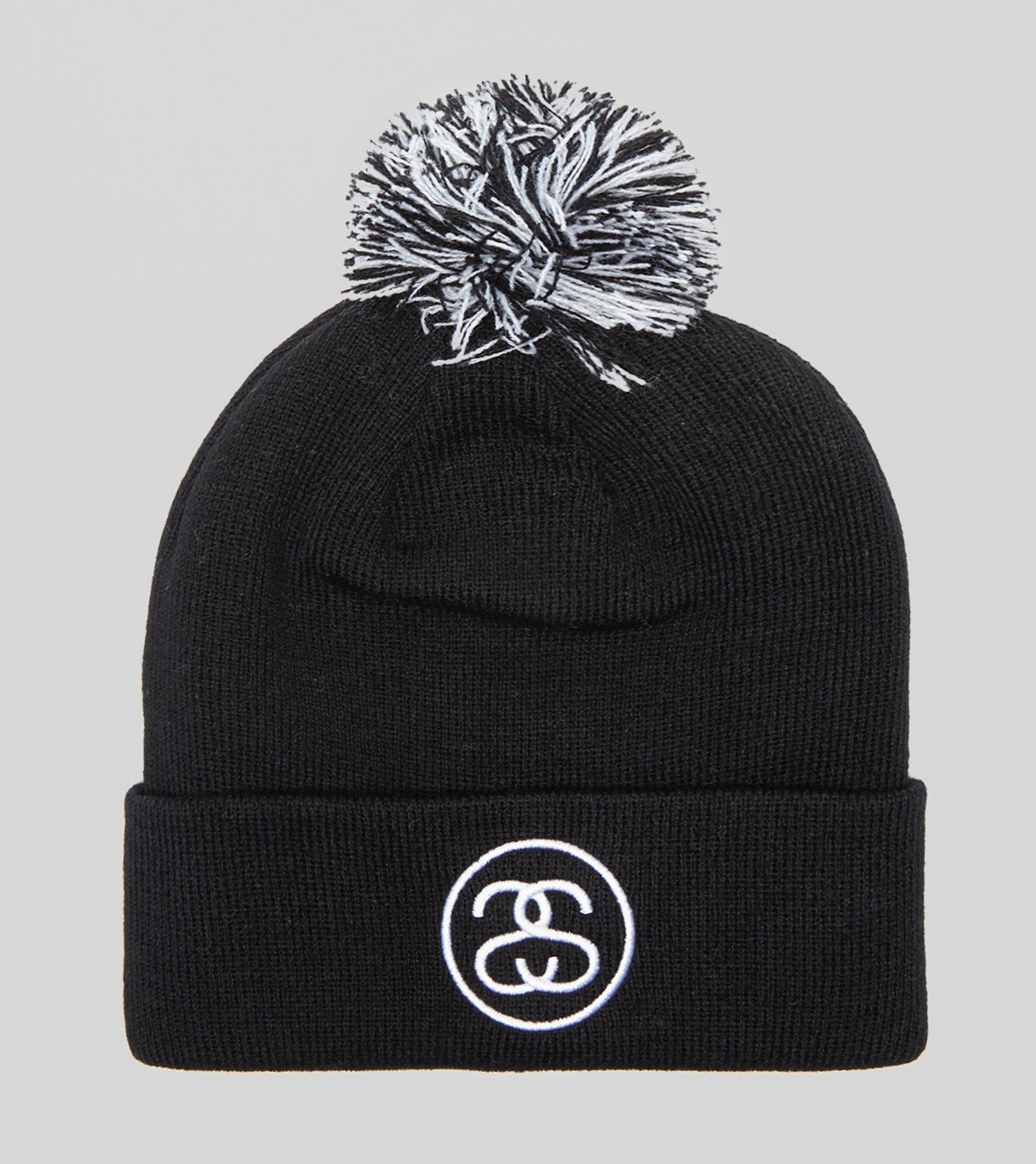 Stussy Ss Link Pom Beanie Hat in Black - Lyst fa95d3bf5f