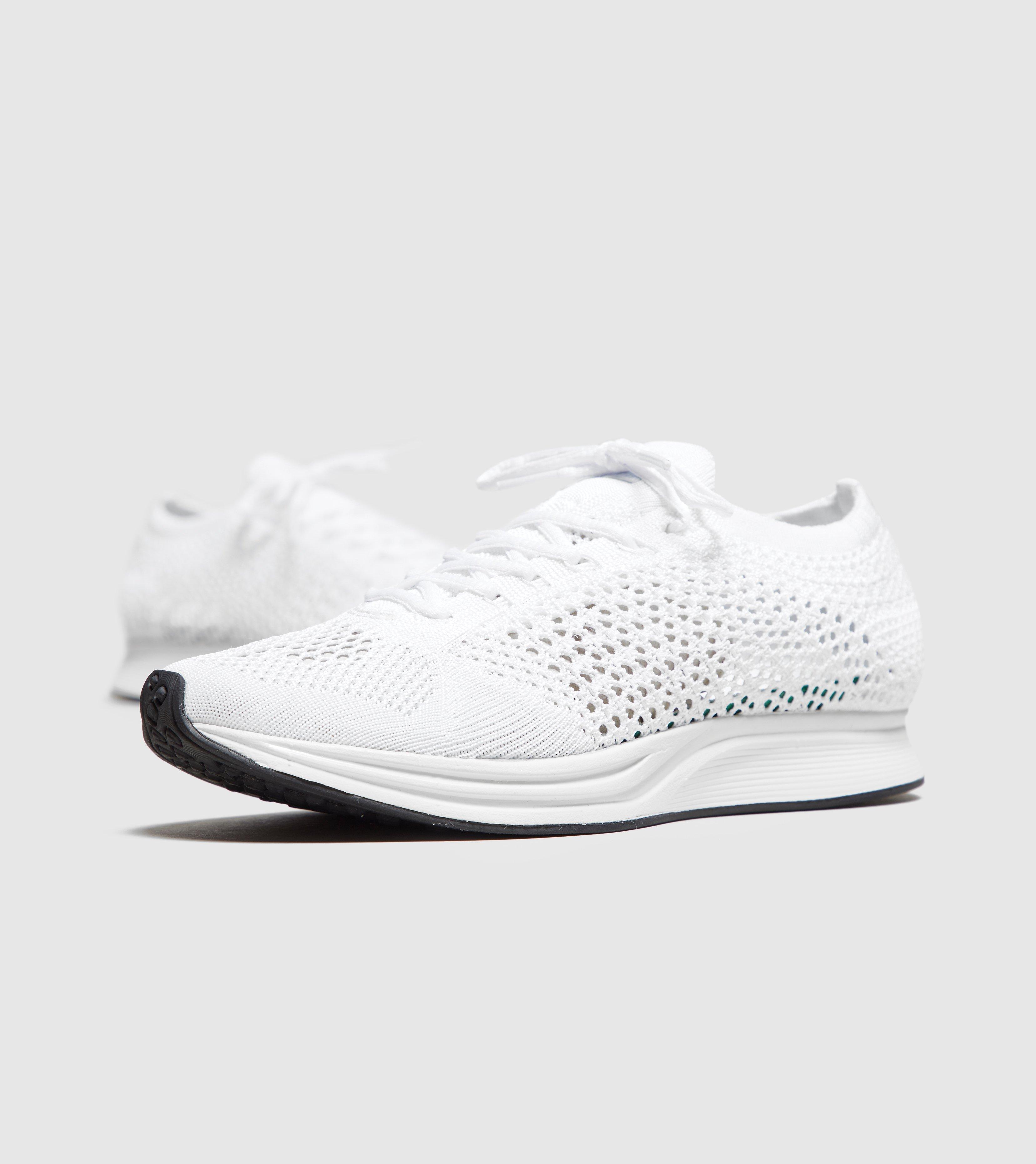 newest 448c1 9f6ef Lyst - Nike Flyknit Racer Women s in White