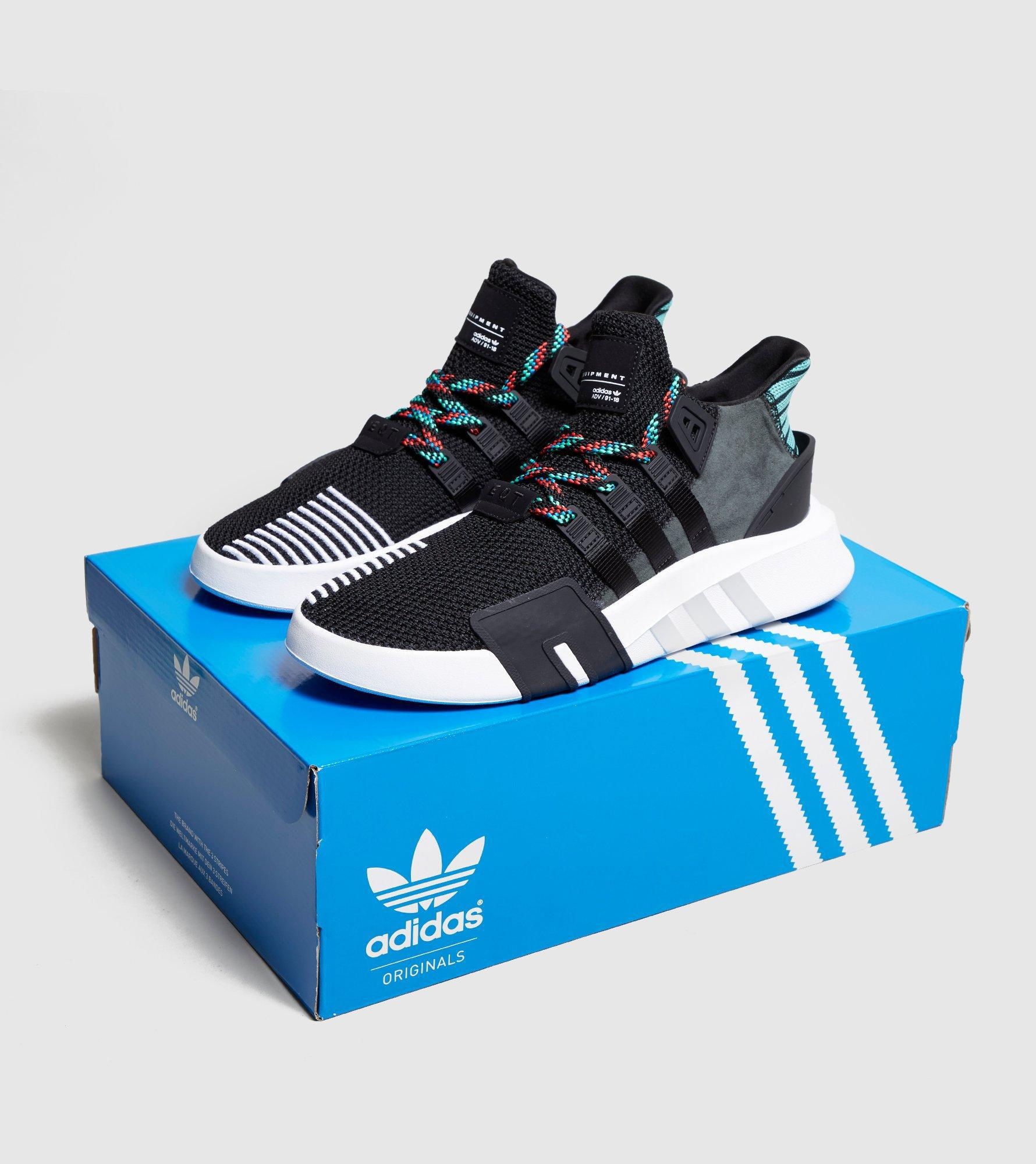 big sale 94224 d7f05 Lyst - Adidas Originals Eqt Bask Adv in Black for Men
