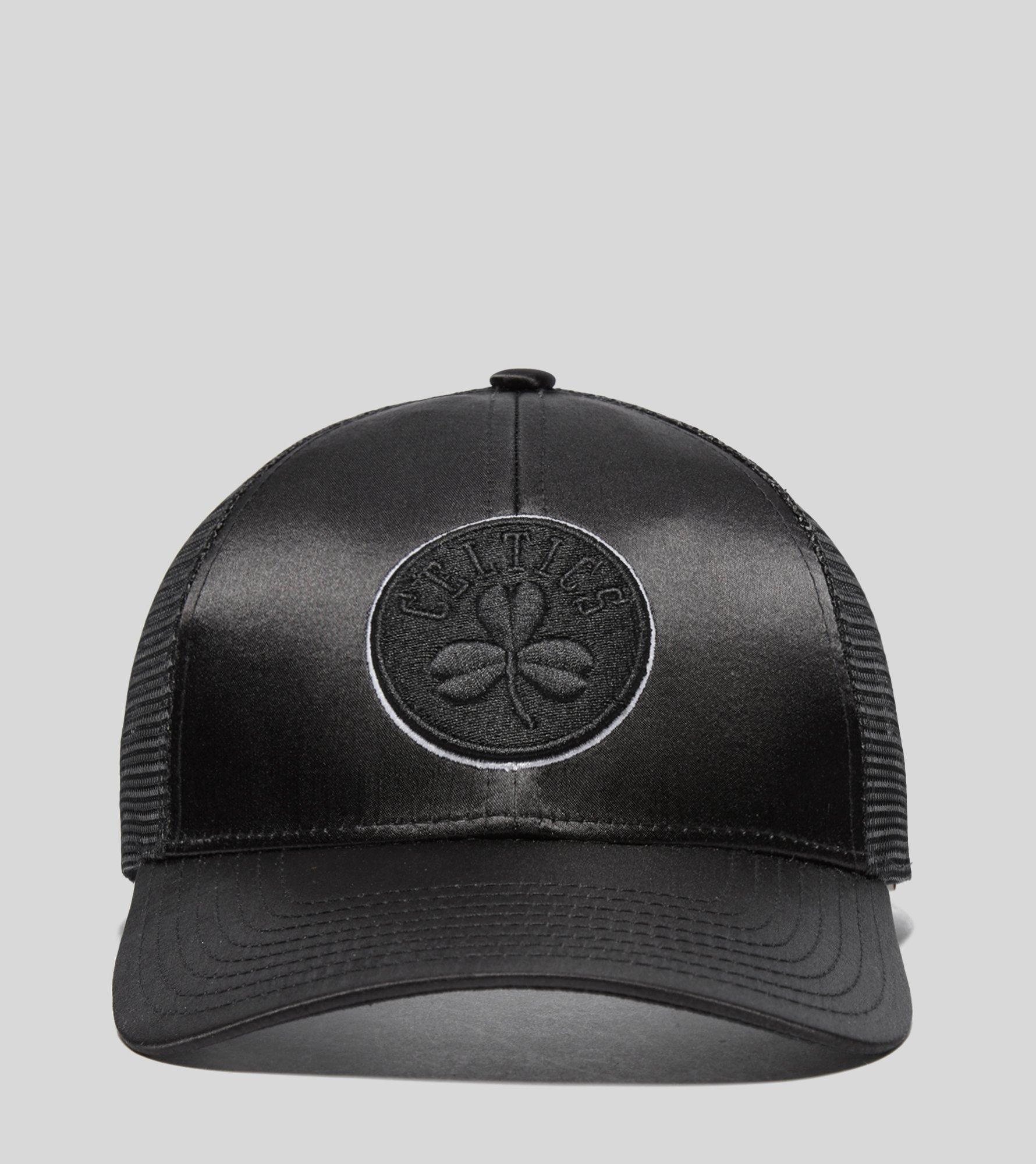 wholesale dealer 11764 8d0dc ... nba sharkstooth hook snapback cap d8eba bf591  top quality lyst  mitchell ness boston celtics satin trucker cap in black for men 9a5f9 da420