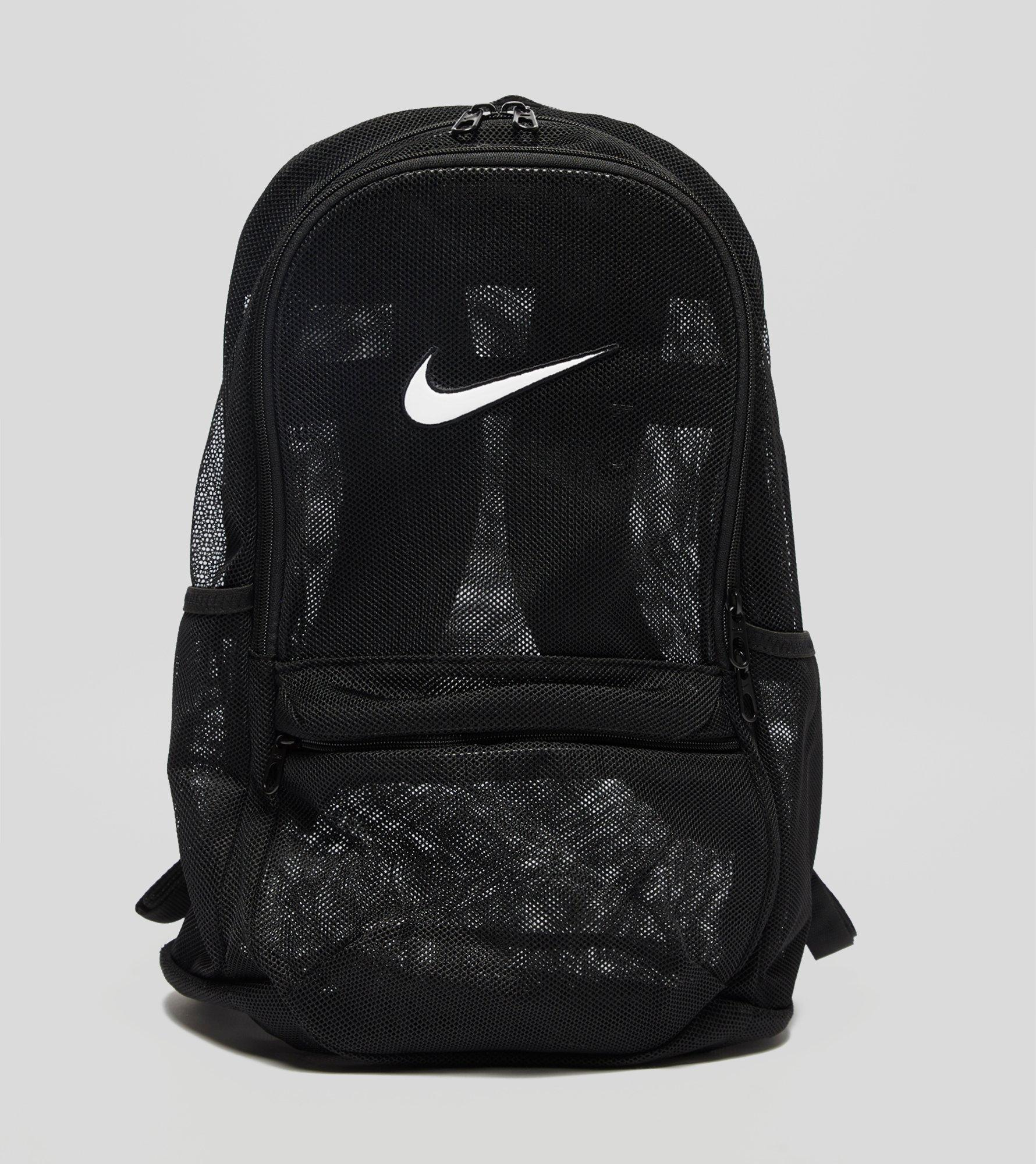 ... free shipping nike brasilia mesh backpack in black for men lyst c5389  a9666 8e40b4bc5ac7