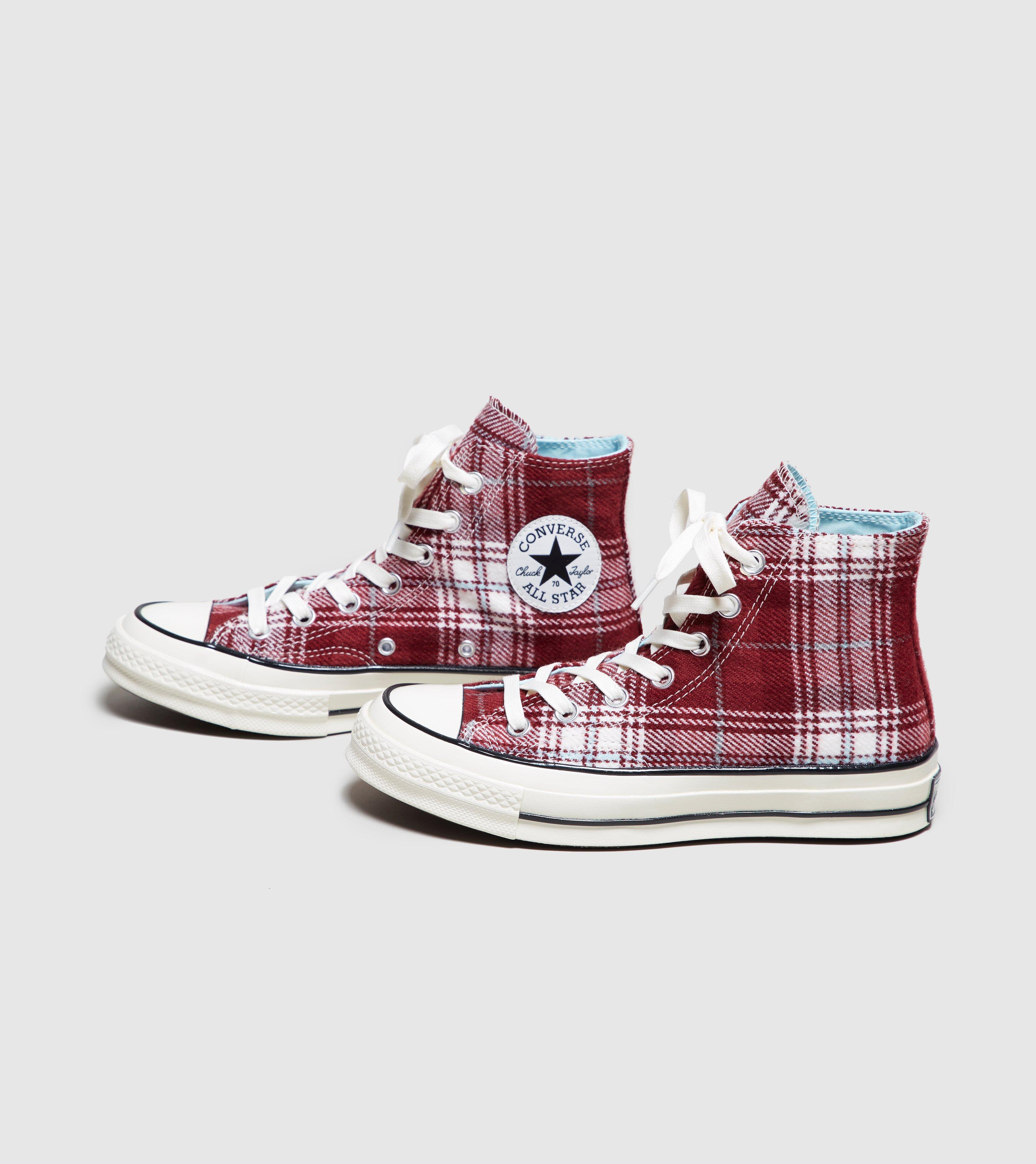 d139710cbb47 Lyst - Converse Chuck Taylor All Star 70 s High Plaid Women s in Red