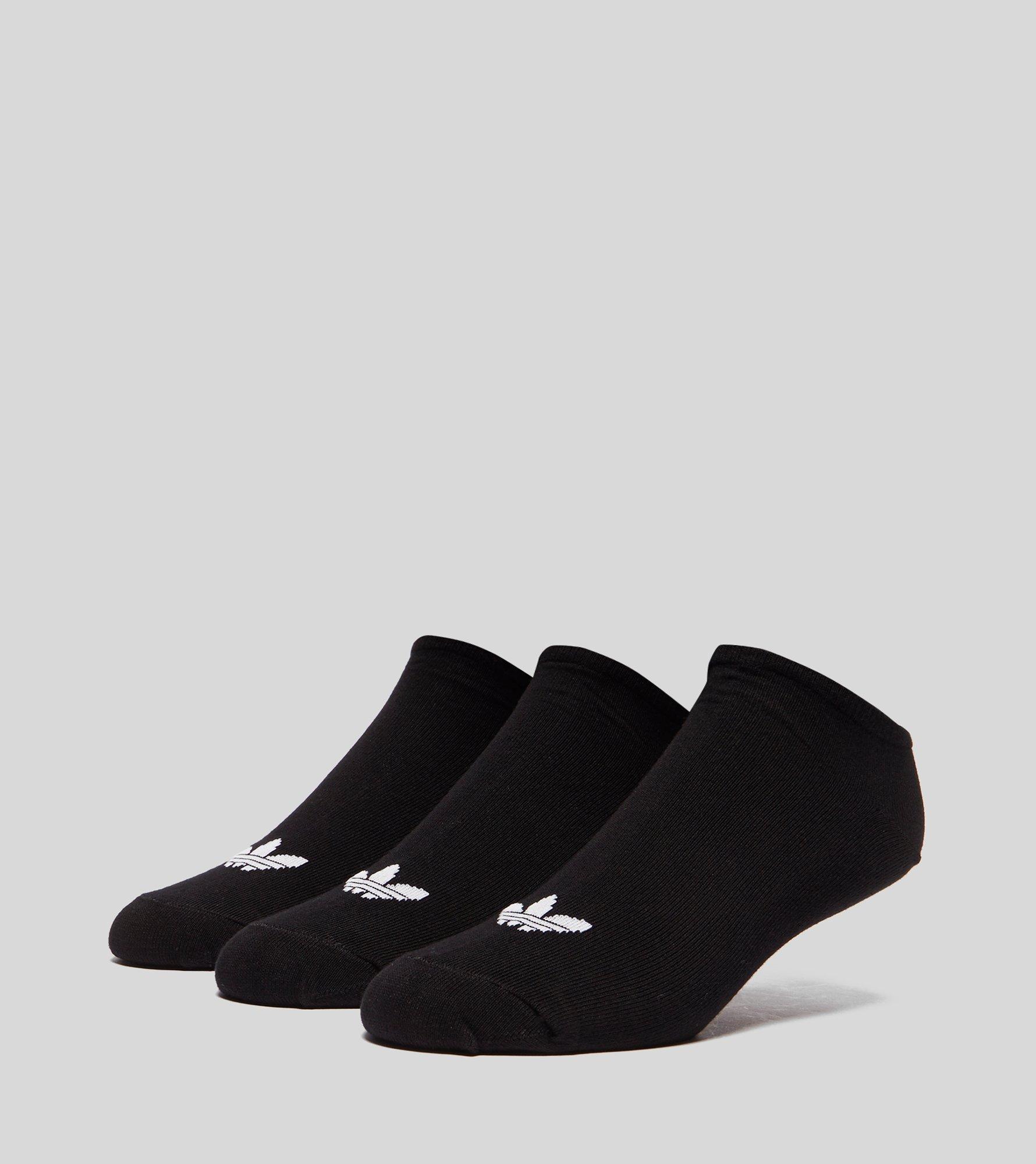 c16f02a5c Lyst - adidas Originals Trefoil Liner Socks - 3 Pack in Black