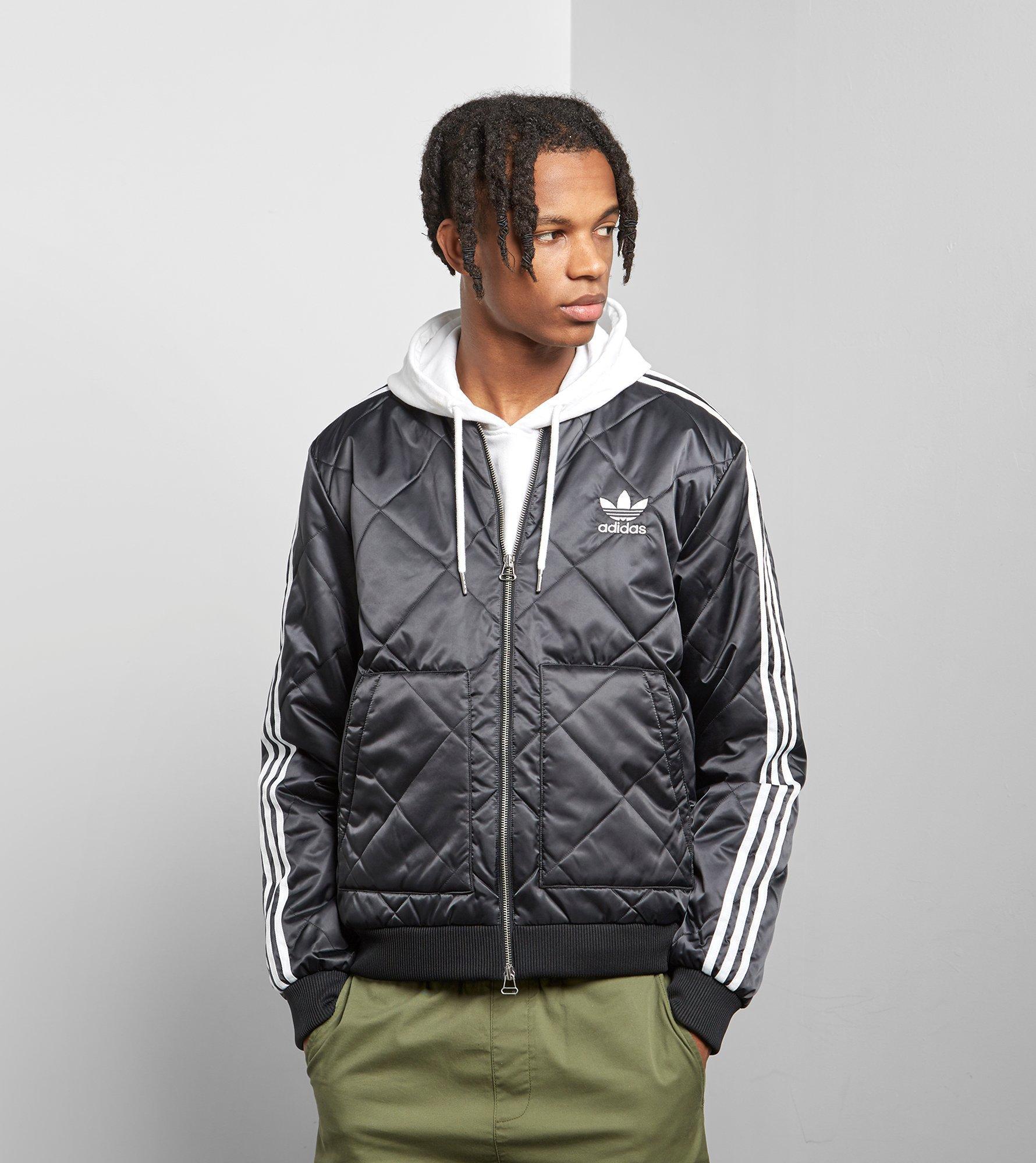 b9f972425 Lyst - adidas Originals Sst Quilted Jacket in Black for Men