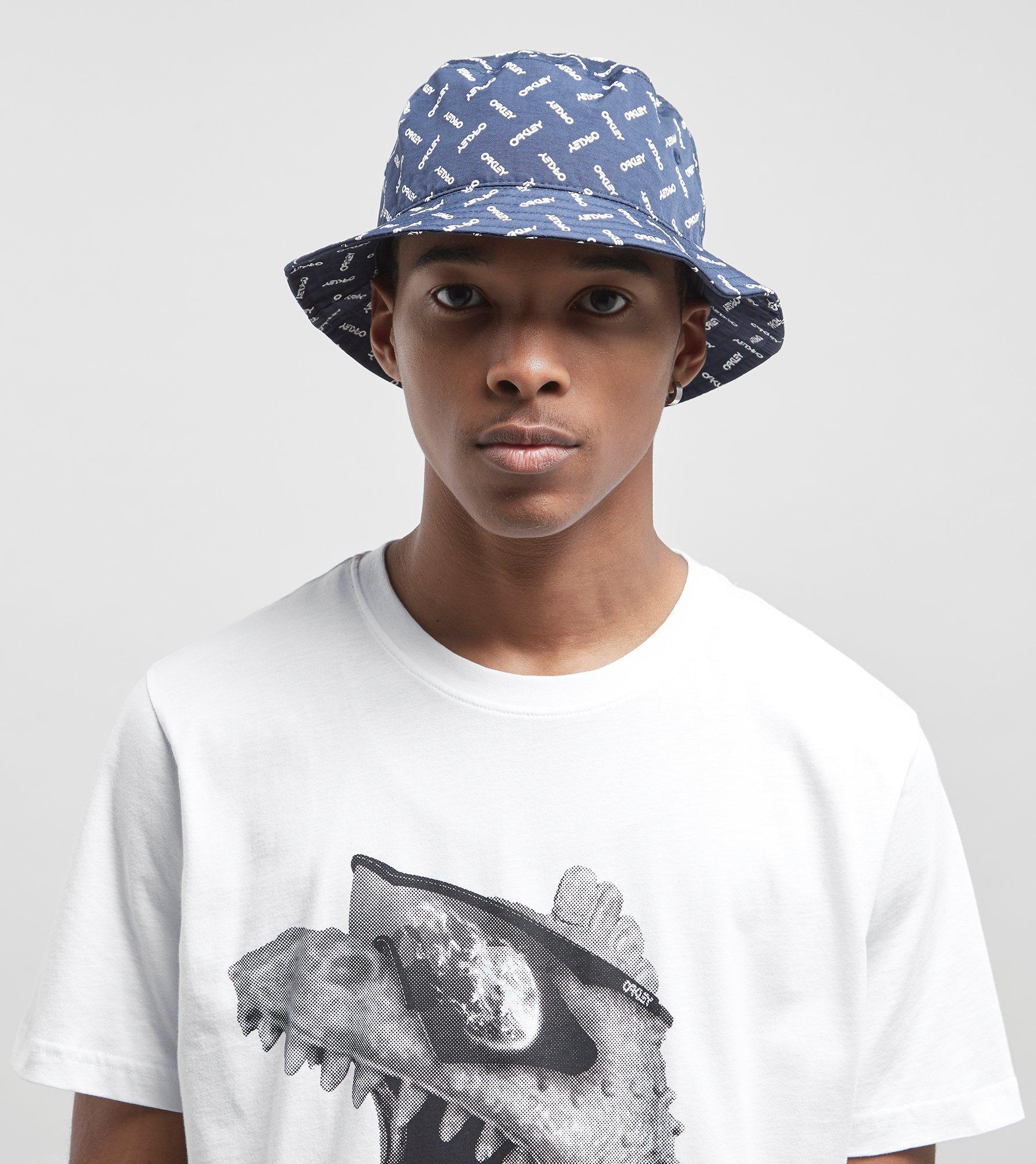 628ea5ebcf3 ... cheapest oakley logo bucket hat in blue for men lyst 4022f c6225