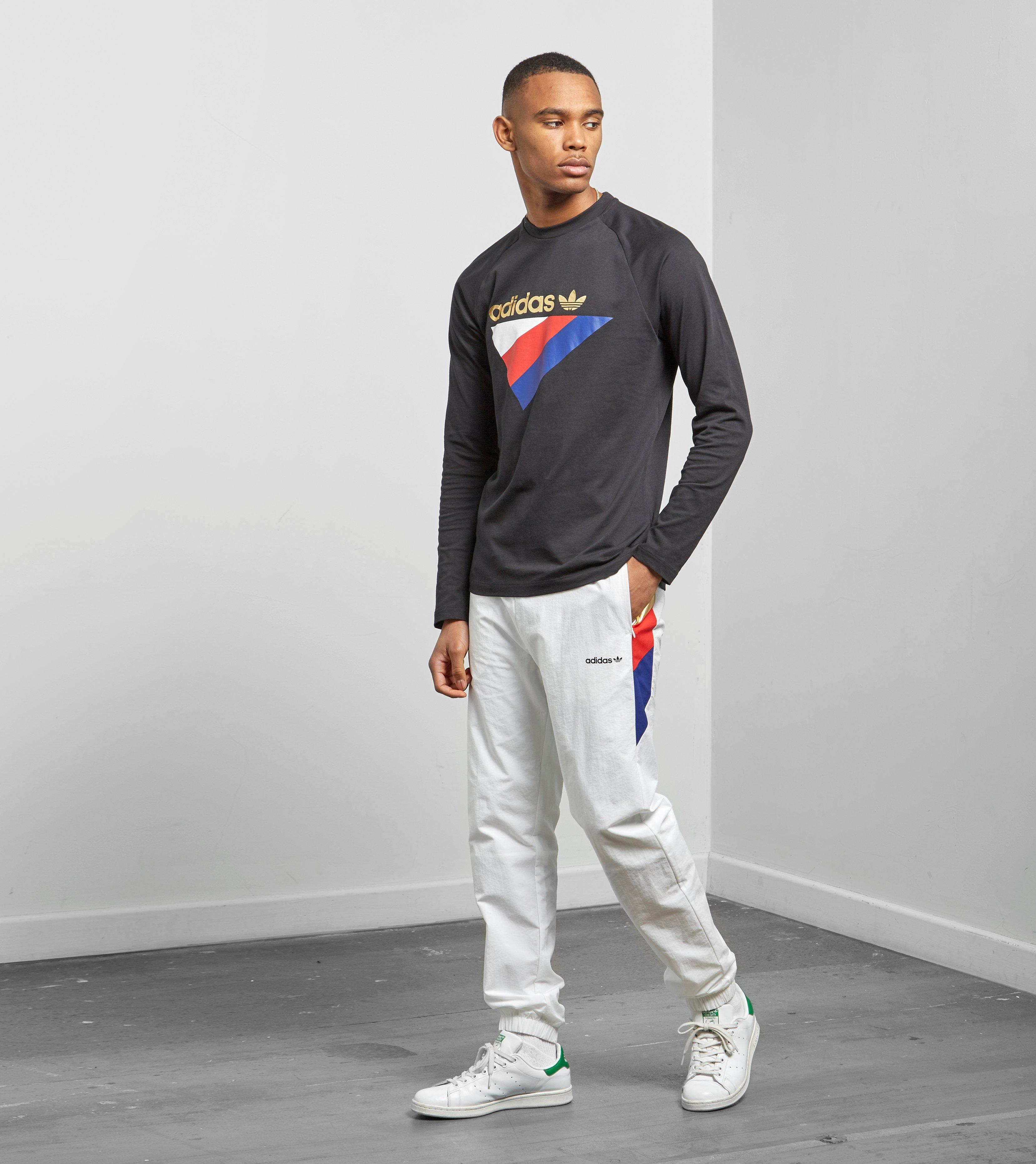 855808e0fb3a Lyst - adidas Originals Tribe Pants in White for Men