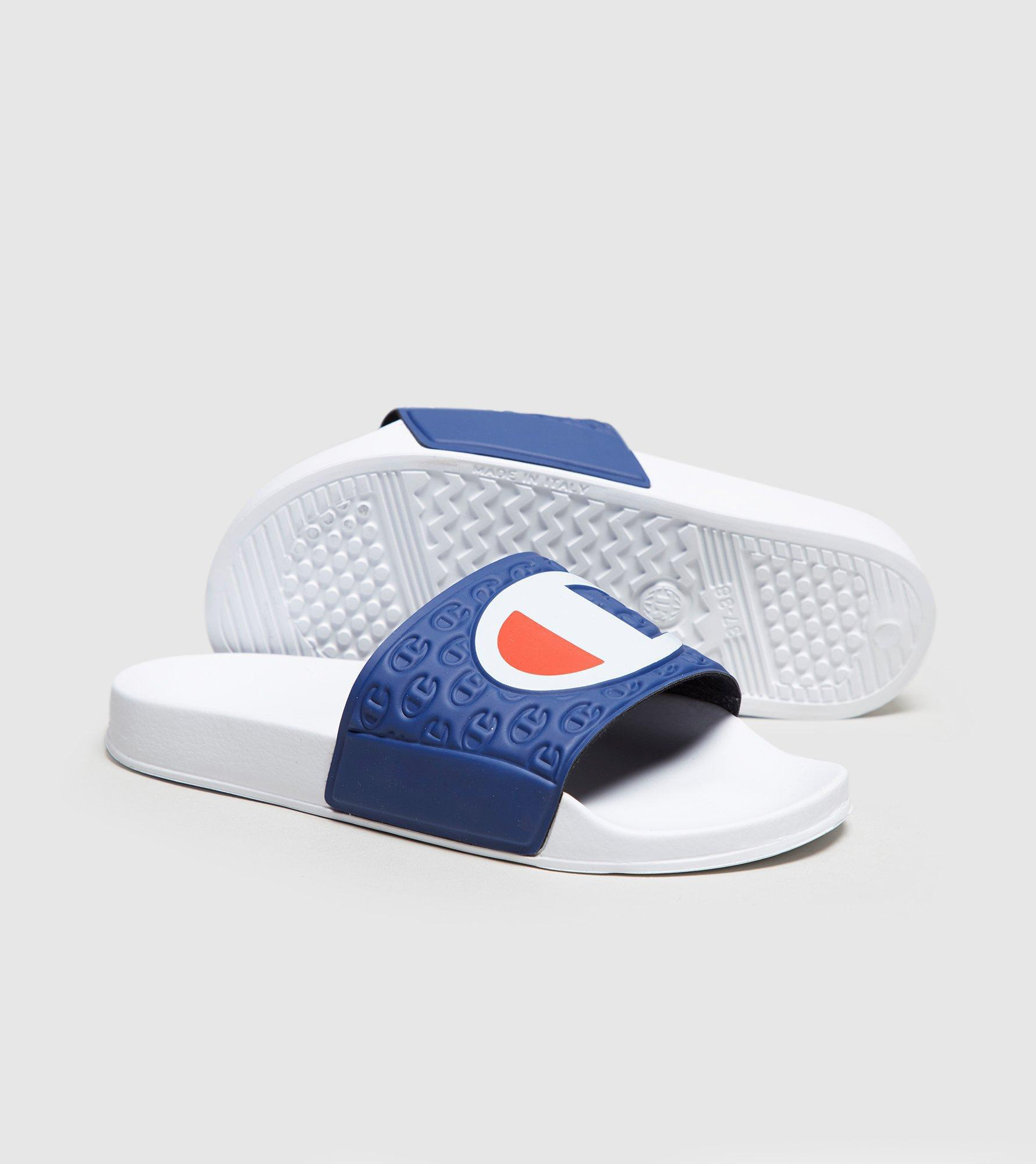 425684f4d3d9bc Lyst - Champion Slides Women s in Blue