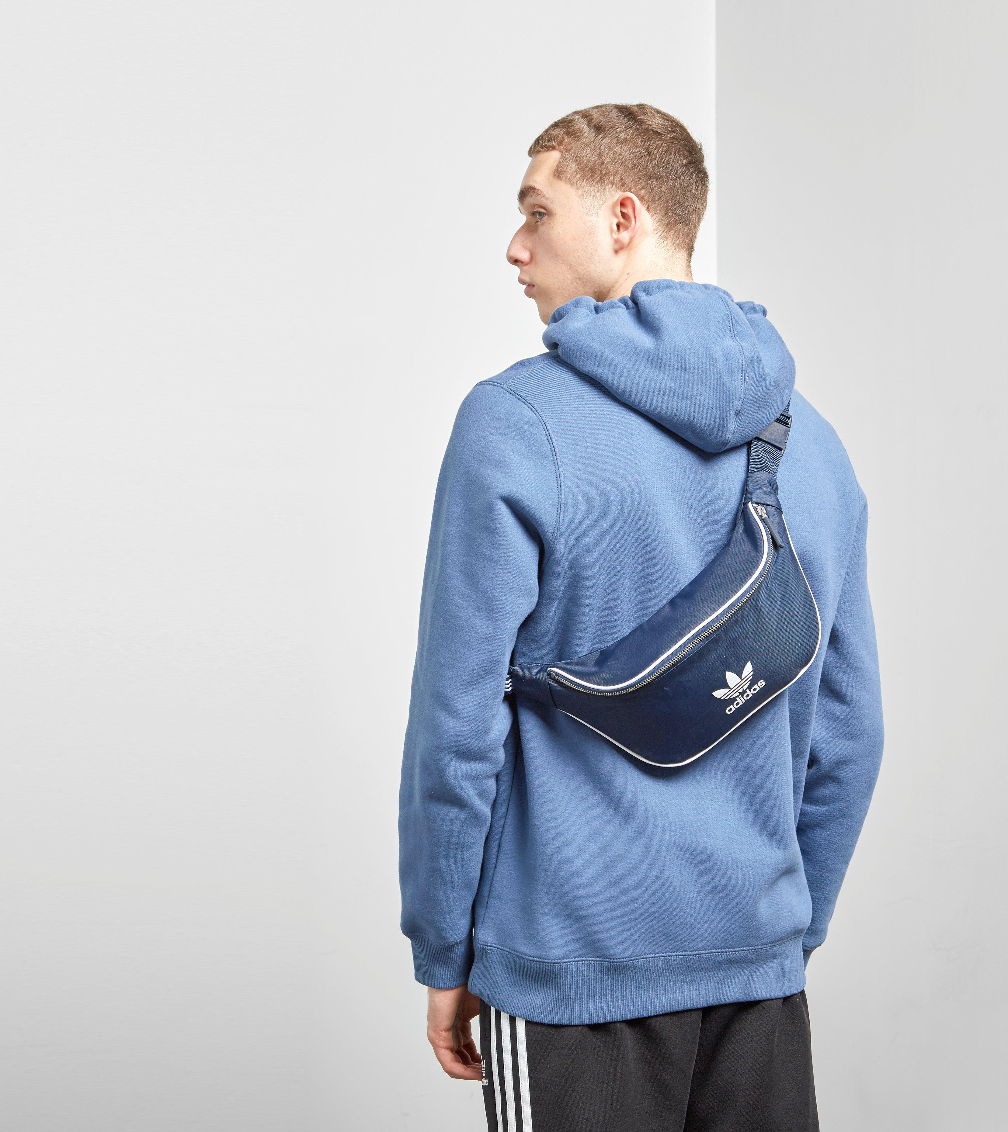 Lyst - adidas Originals Waist Bag in Blue for Men 2eaa01a1efbf3
