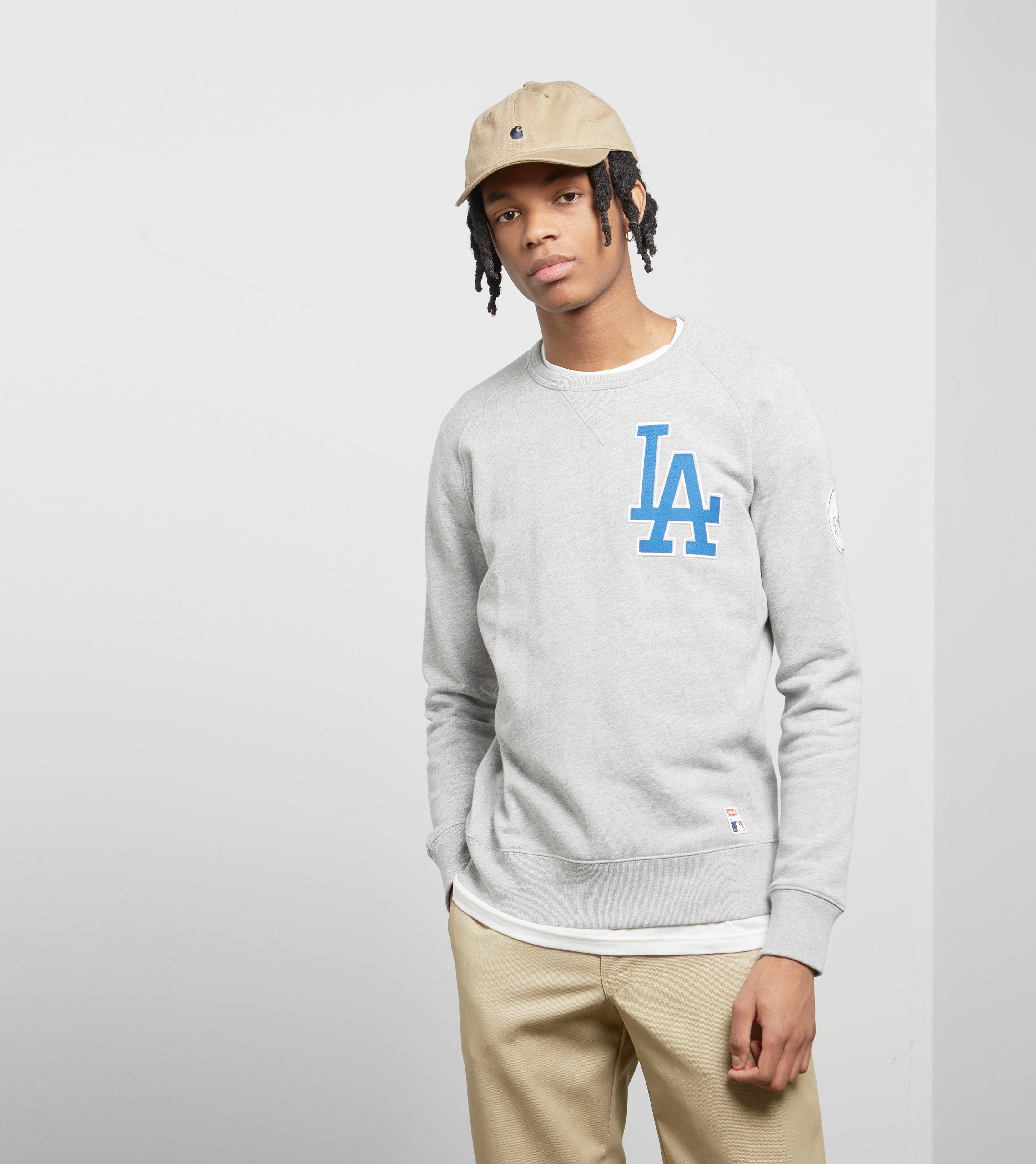 d000bb8db Levi s Levis X Mlb Los Angeles Dodgers Sweatshirt in Gray for Men - Lyst