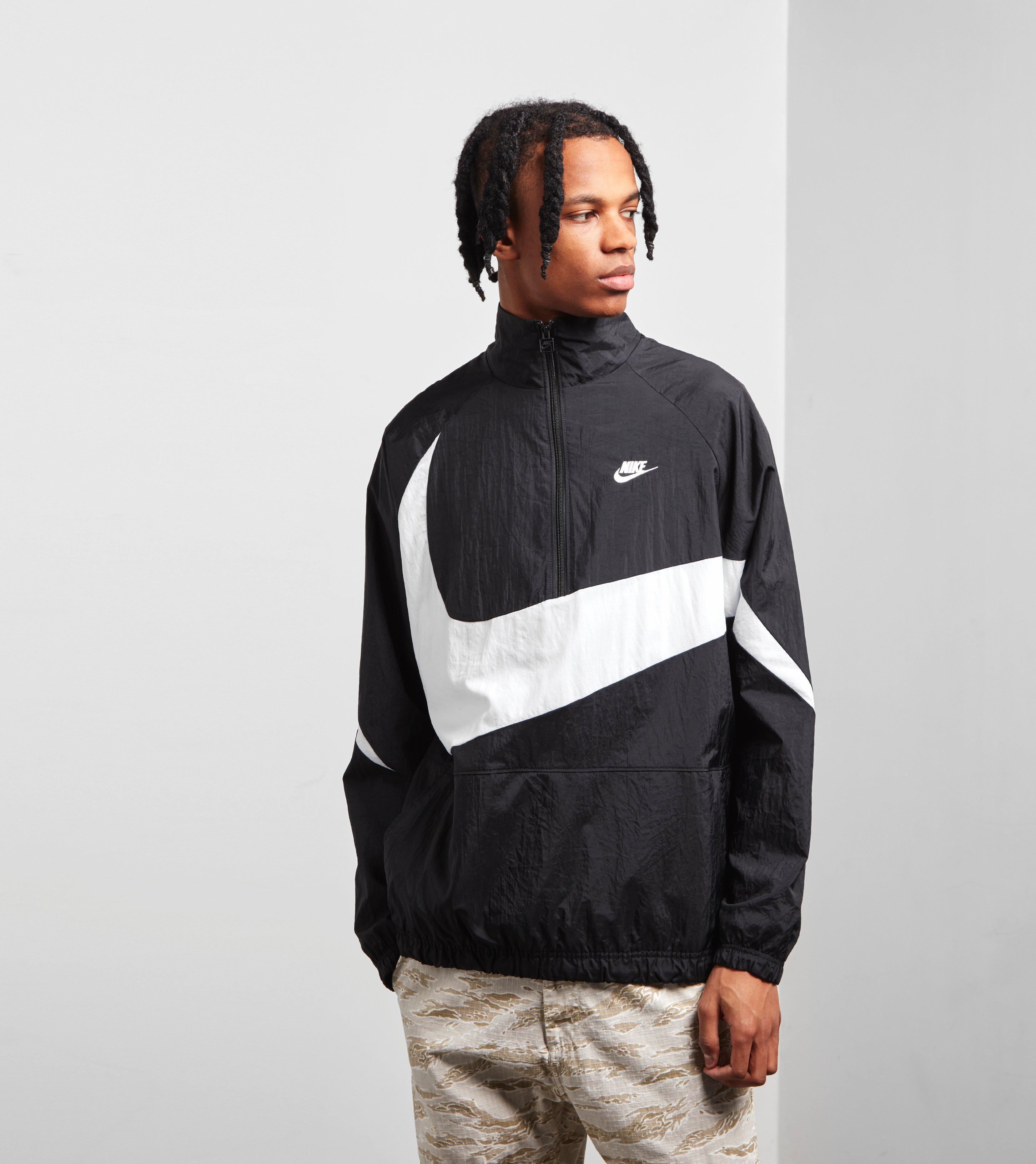 the latest 23b34 fcef5 Nike Swoosh Half Zip Woven Jacket in Black for Men - Lyst