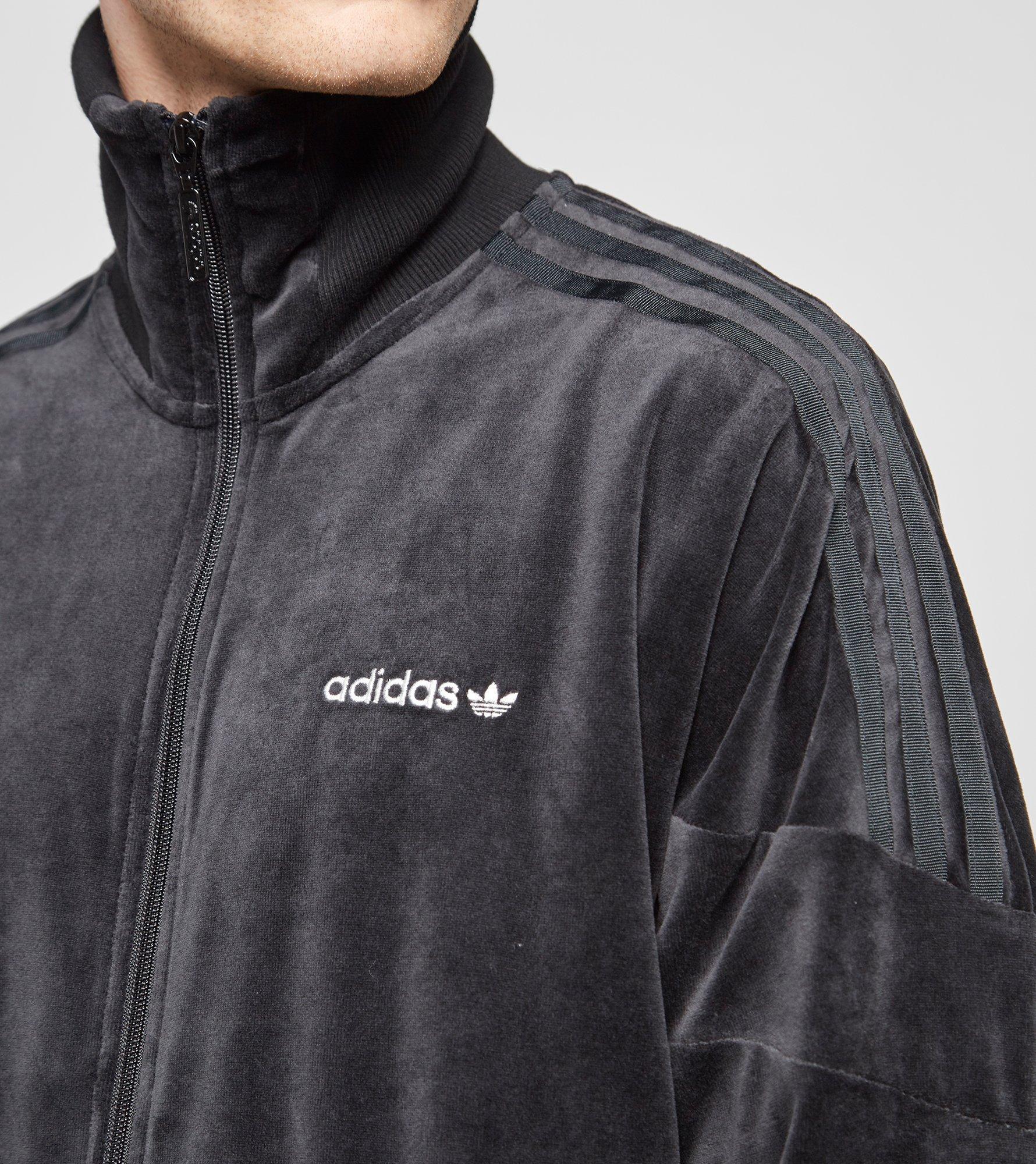 Adidas Originals Clr84 Velour Track Top In Black For Men