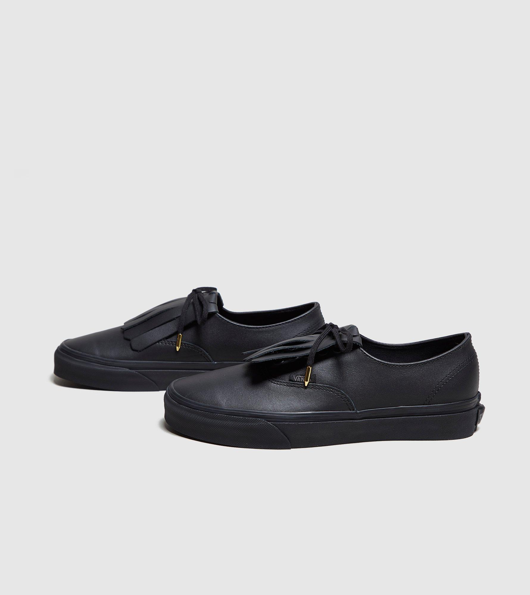 black leather vans authentic