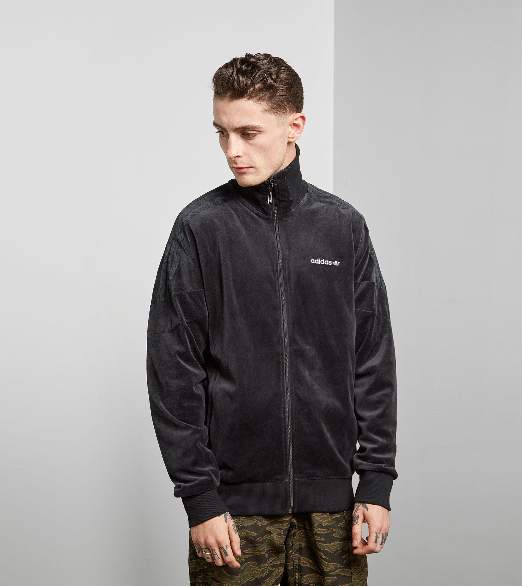 f26d1310eedae adidas Originals Clr84 Velour Track Top in Black for Men - Lyst