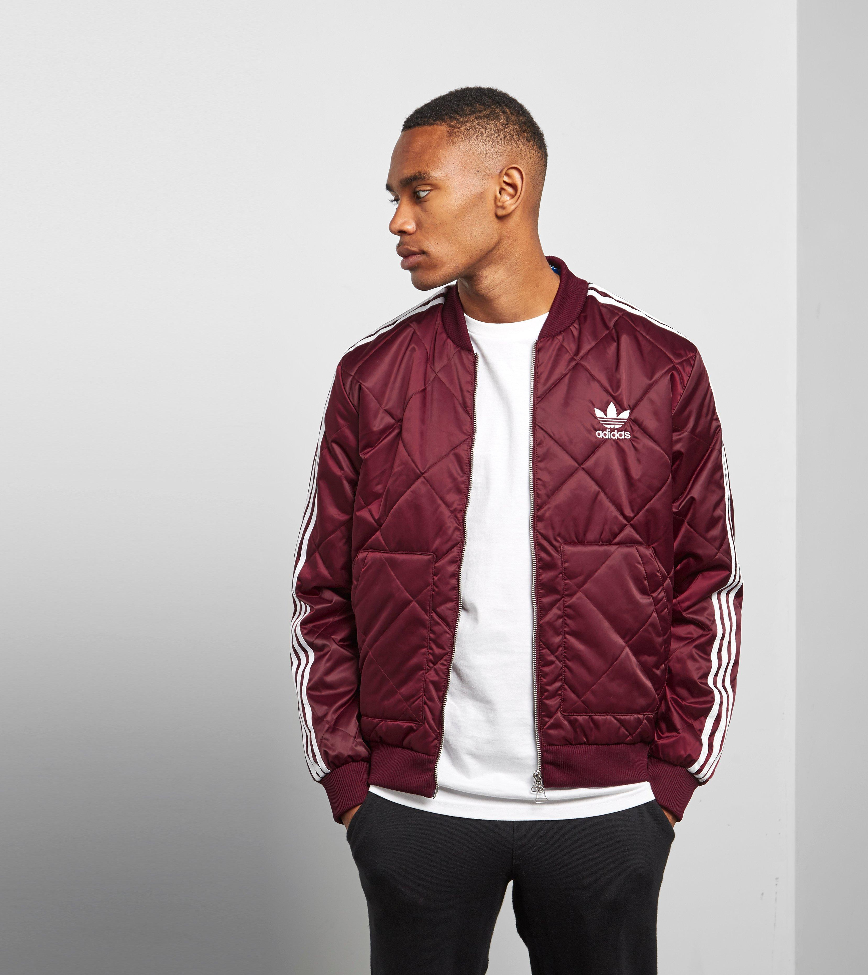 157159ab4 Lyst - adidas Originals Sst Quilted Jacket in Red for Men