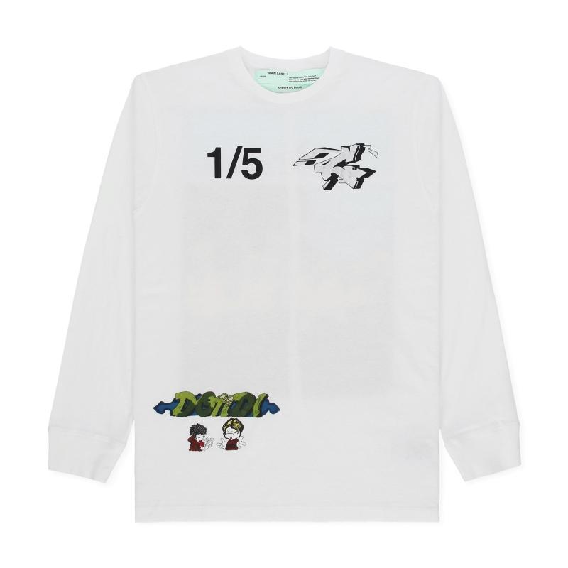 c17ec734 Off-White c/o Virgil Abloh. Men's Demon Long Sleeves T-shirt. $450 From Slam  Jam Socialism