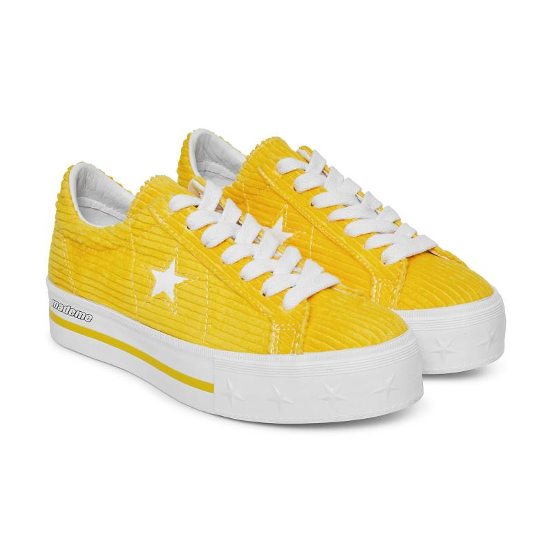 0f2d725cd7a450 Converse X Mademe One Star Platform Sneakers Vibrant Yellow in ...