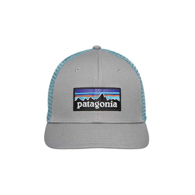 34ee0b0f1fc Patagonia P-6 Logo Trucker Hat Drigter Grey/dam Blue in Gray for Men ...