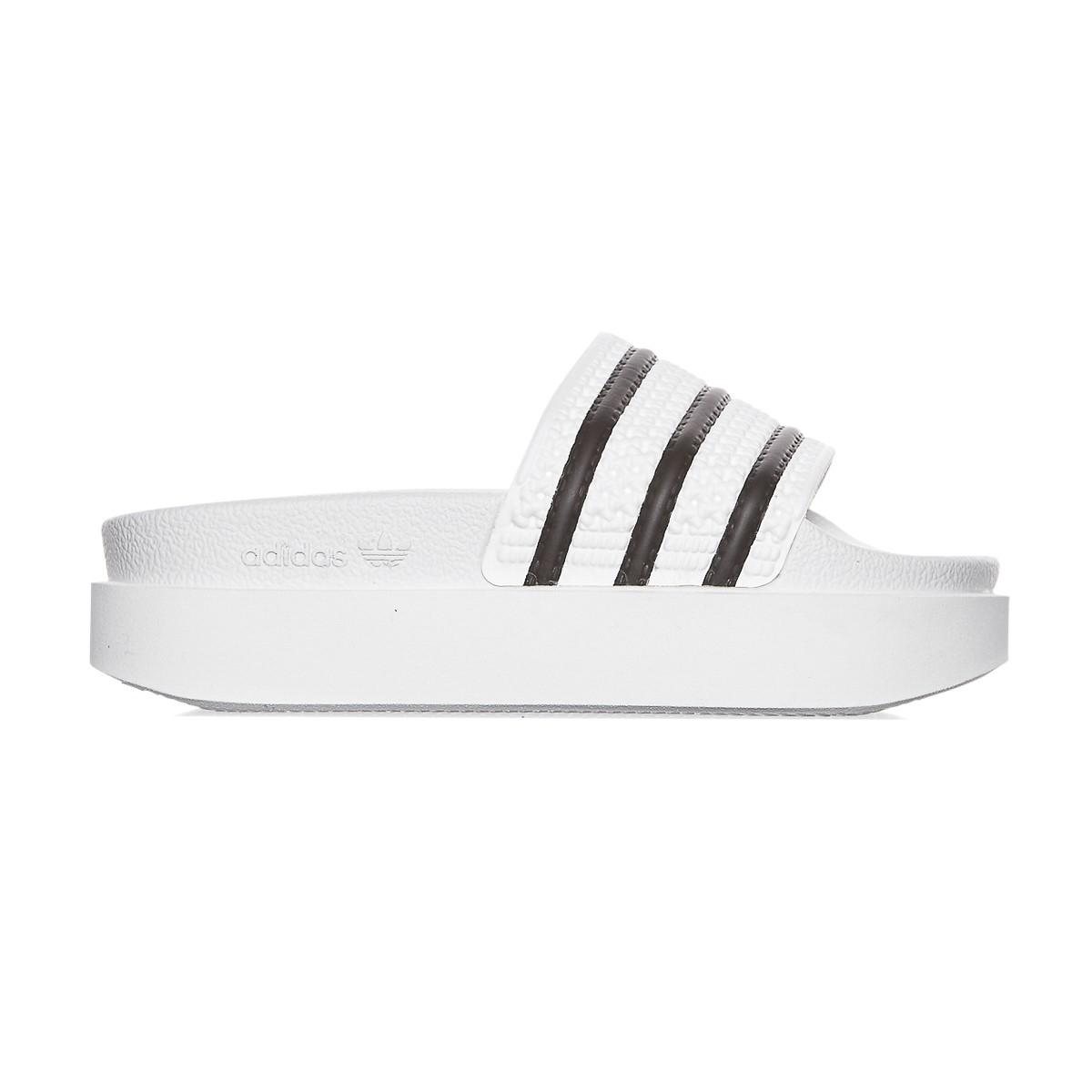7f7f495c78adde Lyst - adidas Originals Adilette Bold Slide Sandals in Black