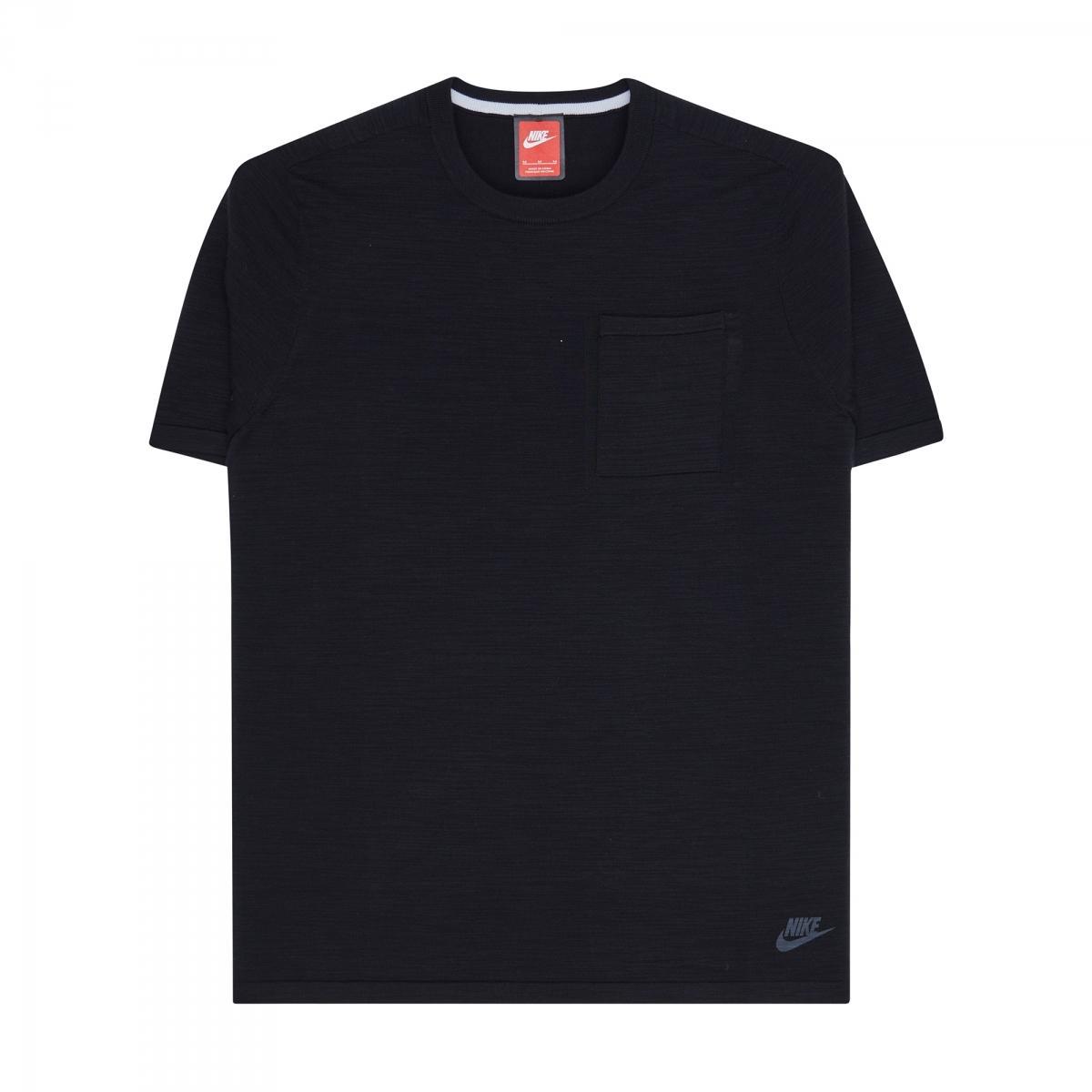 81303797c Nike Tech Knit Pocket T-shirt in Black for Men - Lyst