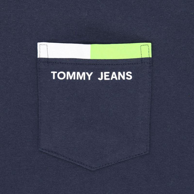 6585d17007 Tommy Hilfiger Back Stripe T-shirt in Blue for Men - Lyst