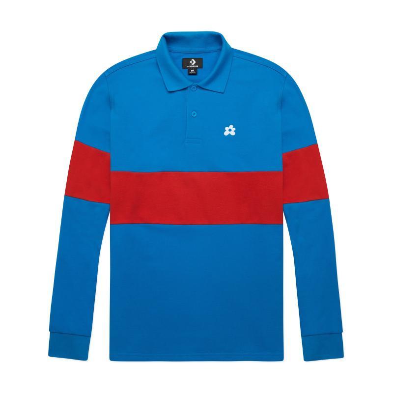 Lyst - Converse Golf Le Fleur Long Sleeves Polo T-shirt in Blue for Men 7067a89e8
