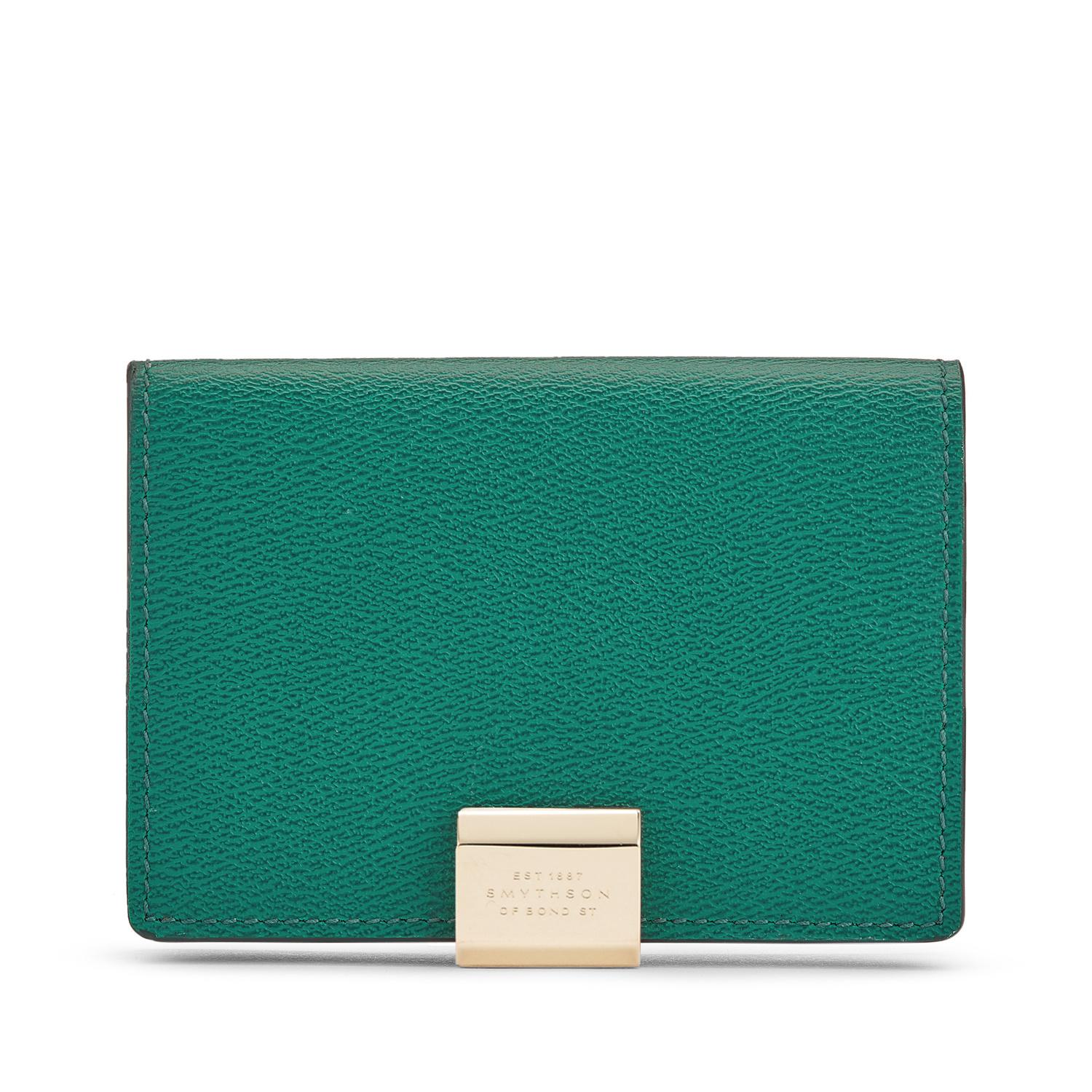 Smythson Business And Credit Card Case in Green - Lyst