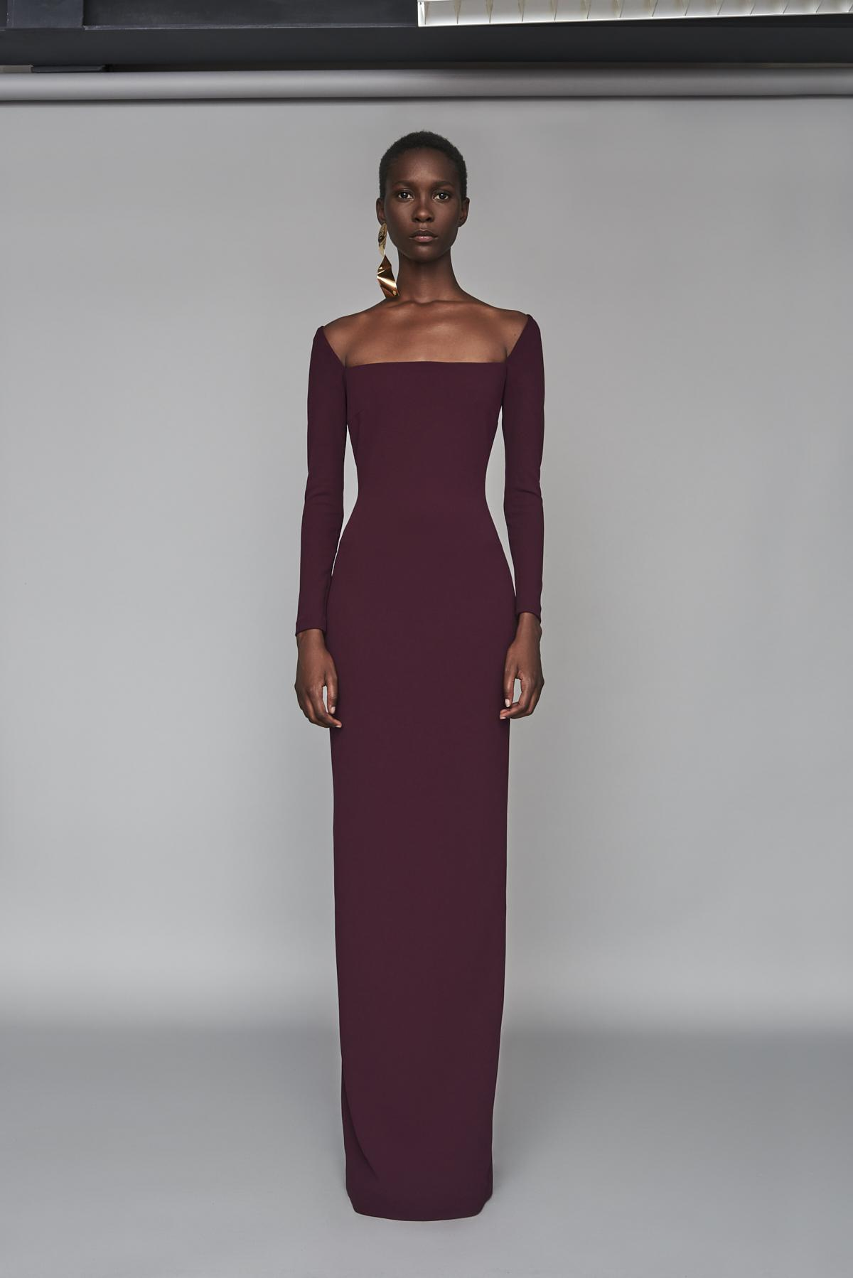d5d678e77e4 Solace London Lolita Maxi Dress Aubergine in Purple - Lyst