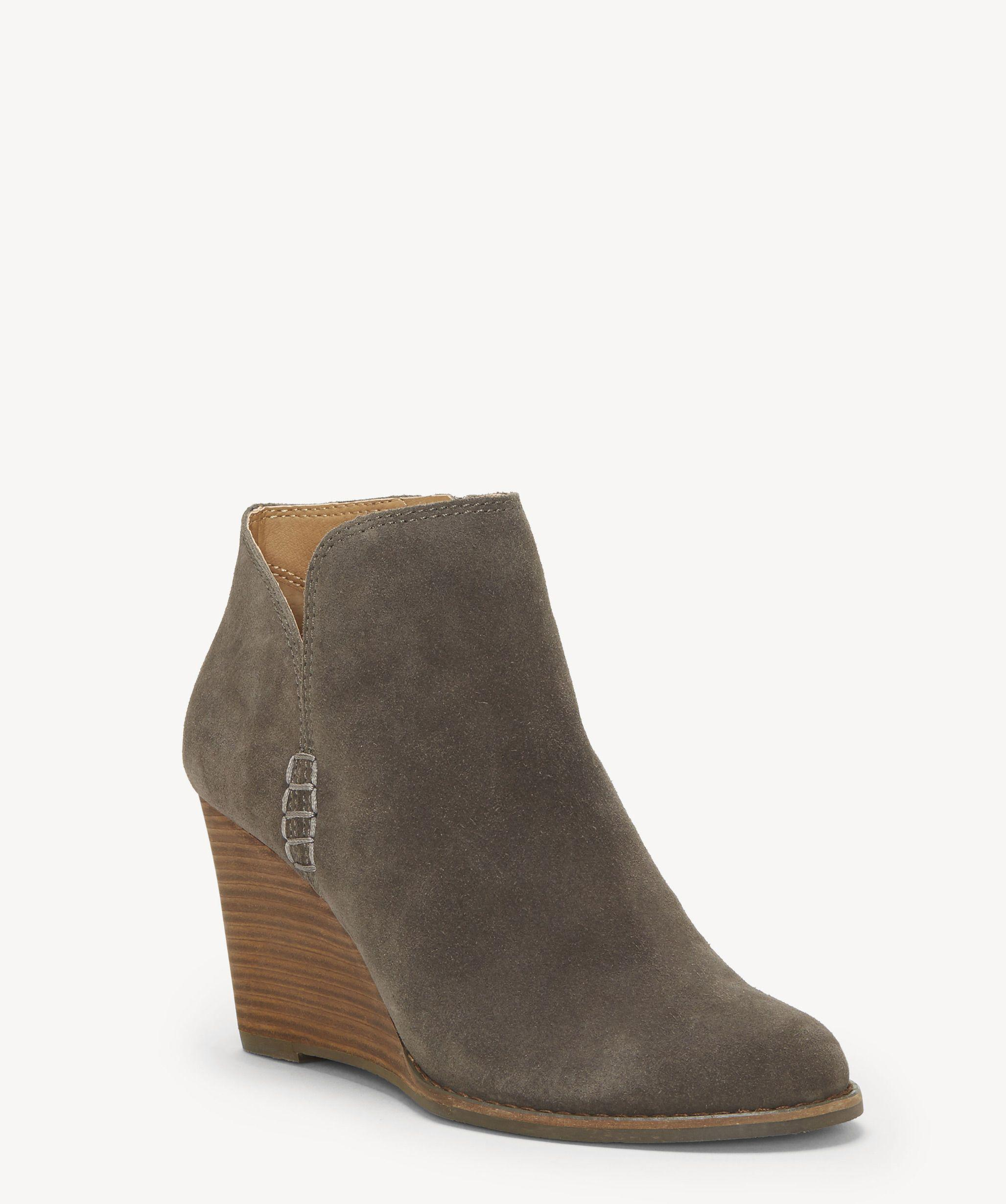 a1bd392d0cd28 Lyst - Lucky Brand Yimmie Wedge Bootie in Brown