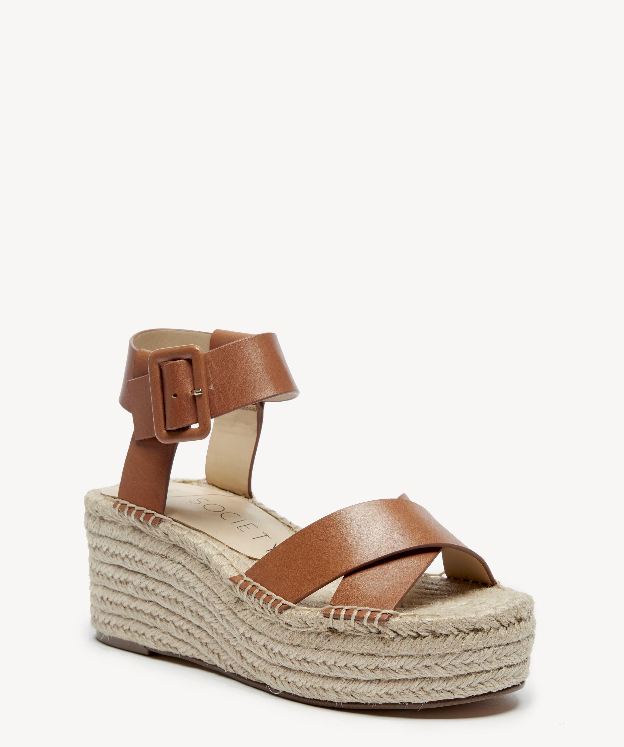fad547c0bad Lyst - Sole Society Audrina Flatform Espadrille in Brown