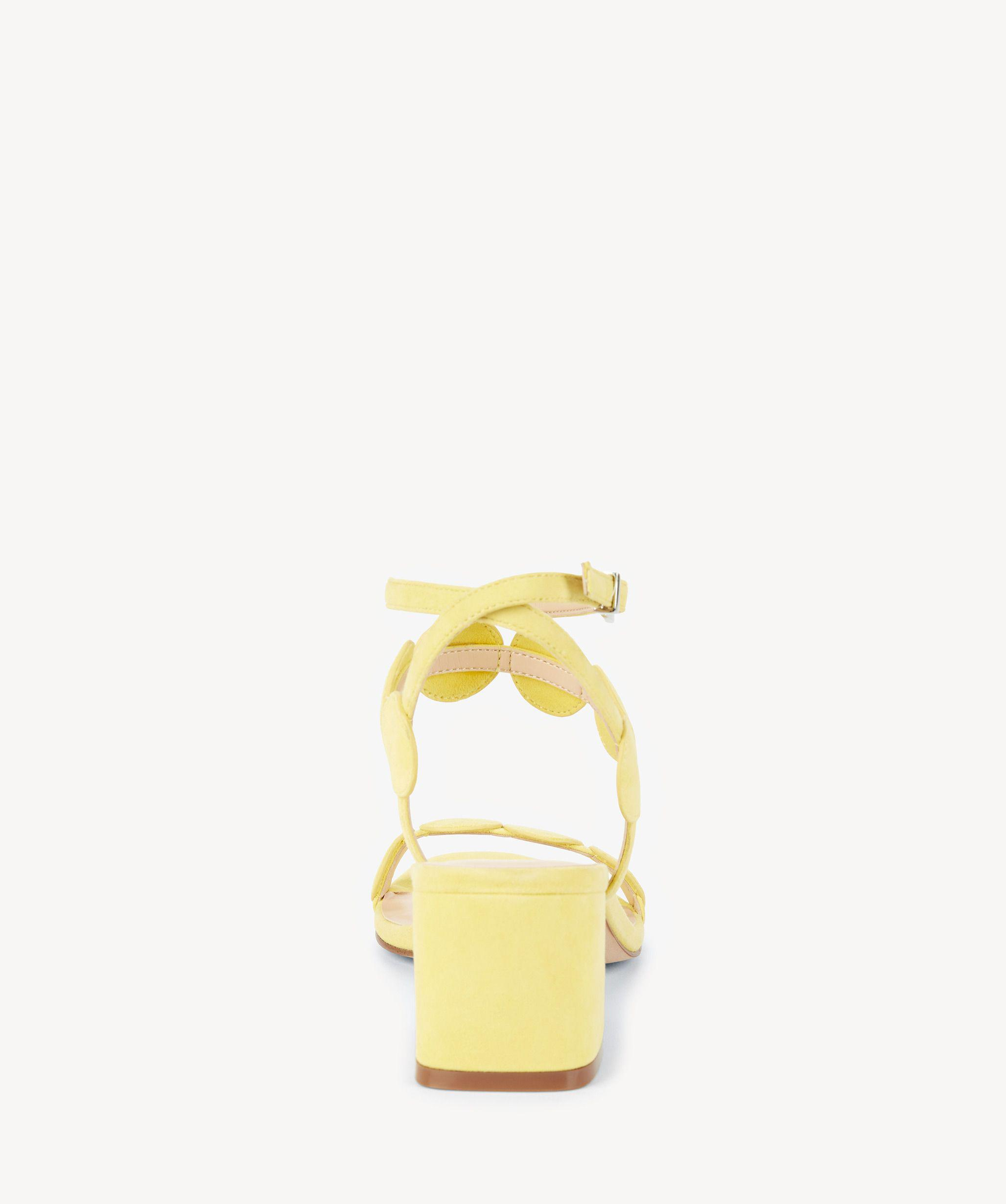 470146b80600 Lyst - Sole Society Shea Strappy Heeled Sandal in Yellow