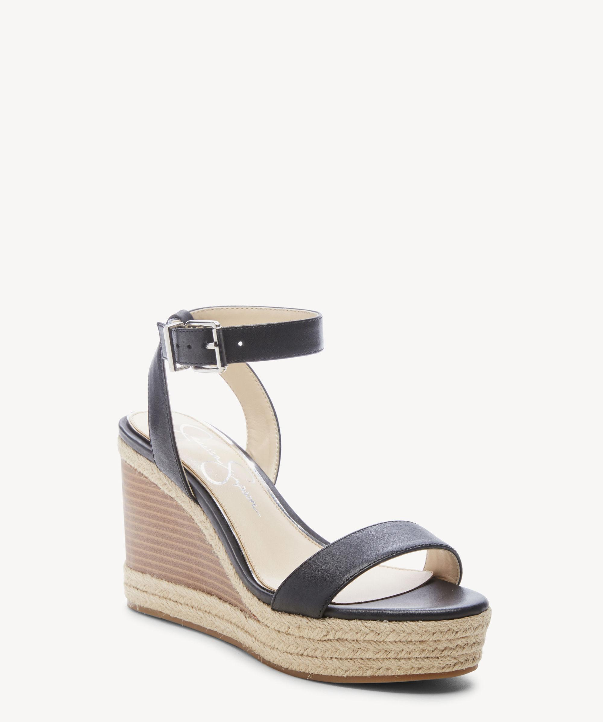 e88329332644 Lyst - Jessica Simpson Maylra Platform Wedge Sandal in Black