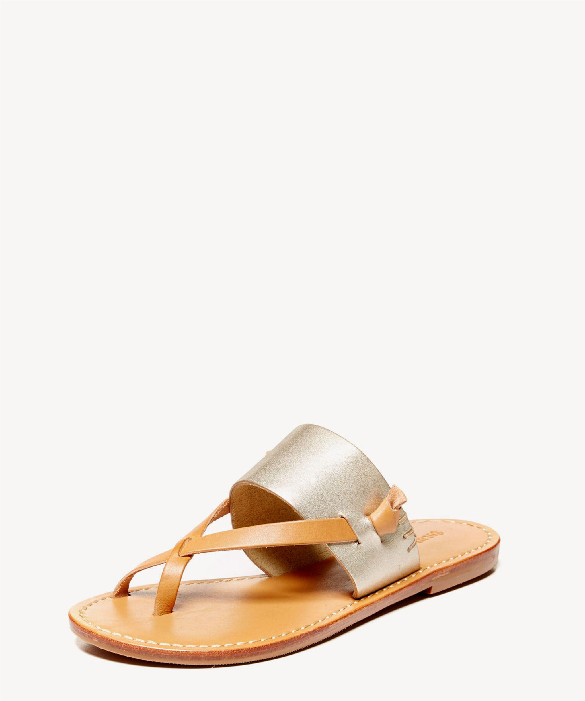 1ced2970c6bc Lyst - Soludos Slotted Thong Sandal Solid Flip Flop