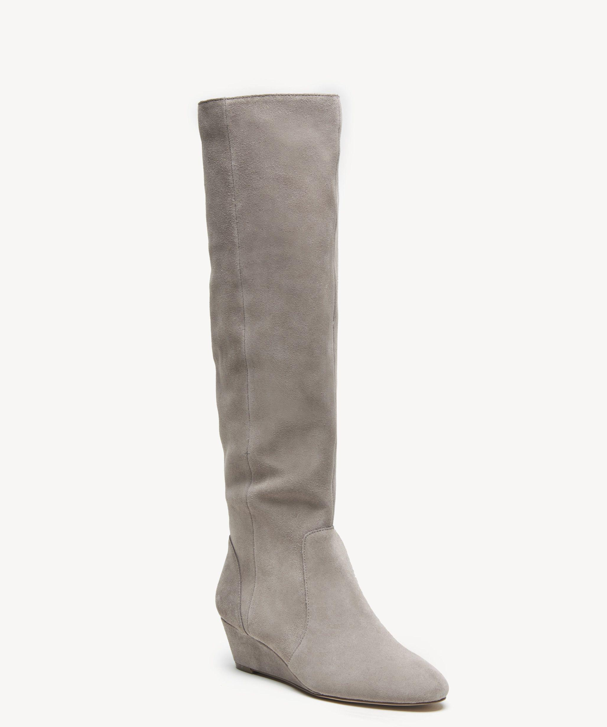 ae76ab8e62e Lyst - Sole Society Aileena Wedge Boot in Gray