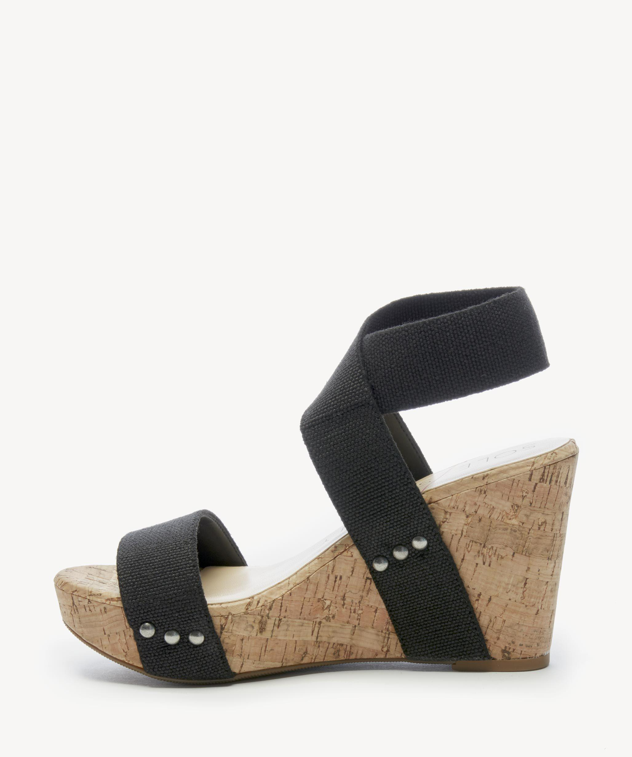 11690a9d26 Sole Society Analisa Platform Wedge in Black - Lyst