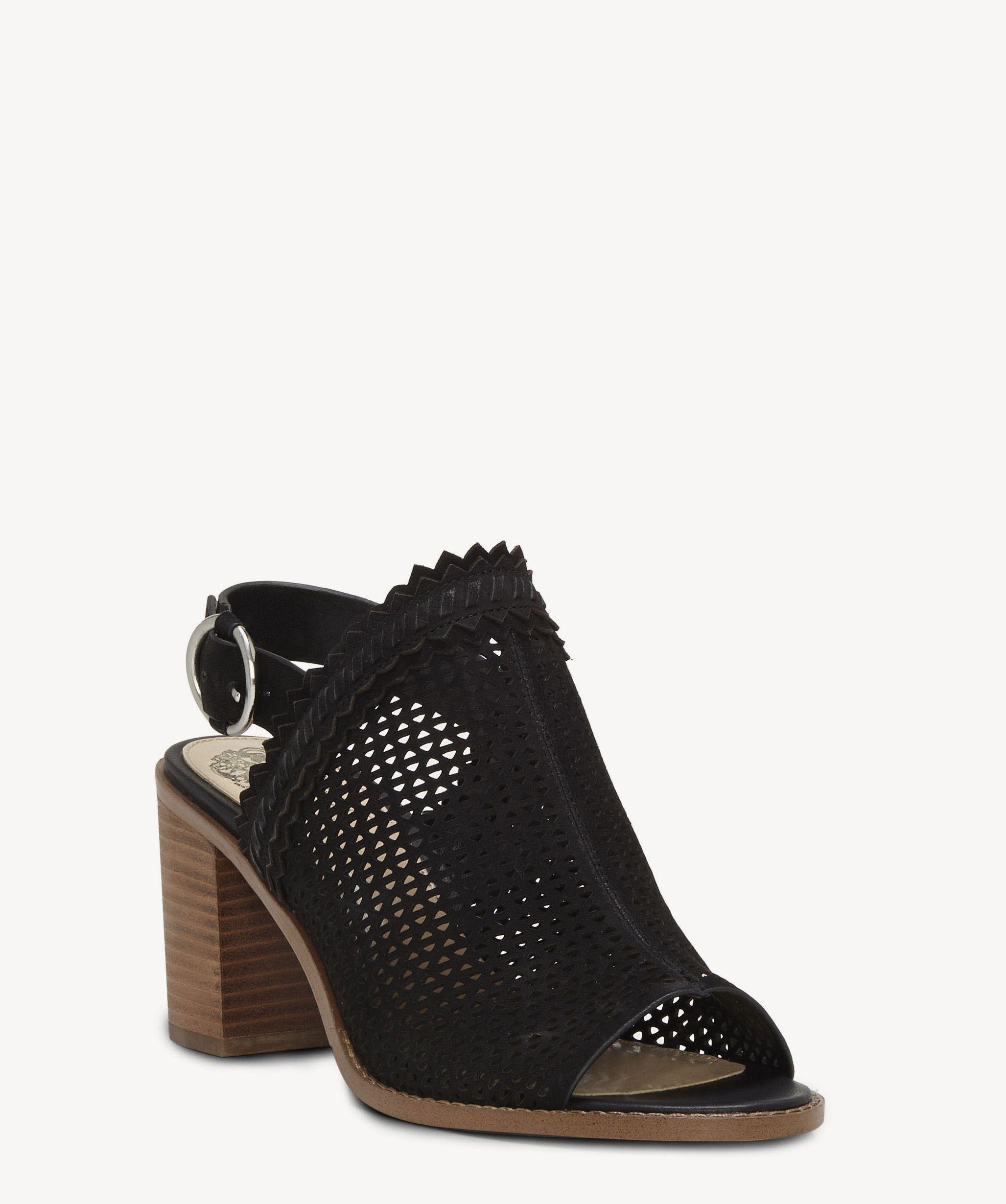 c6e0b2c455f Lyst - Vince Camuto Tricinda Slingback Block Heel Sandal in Black ...