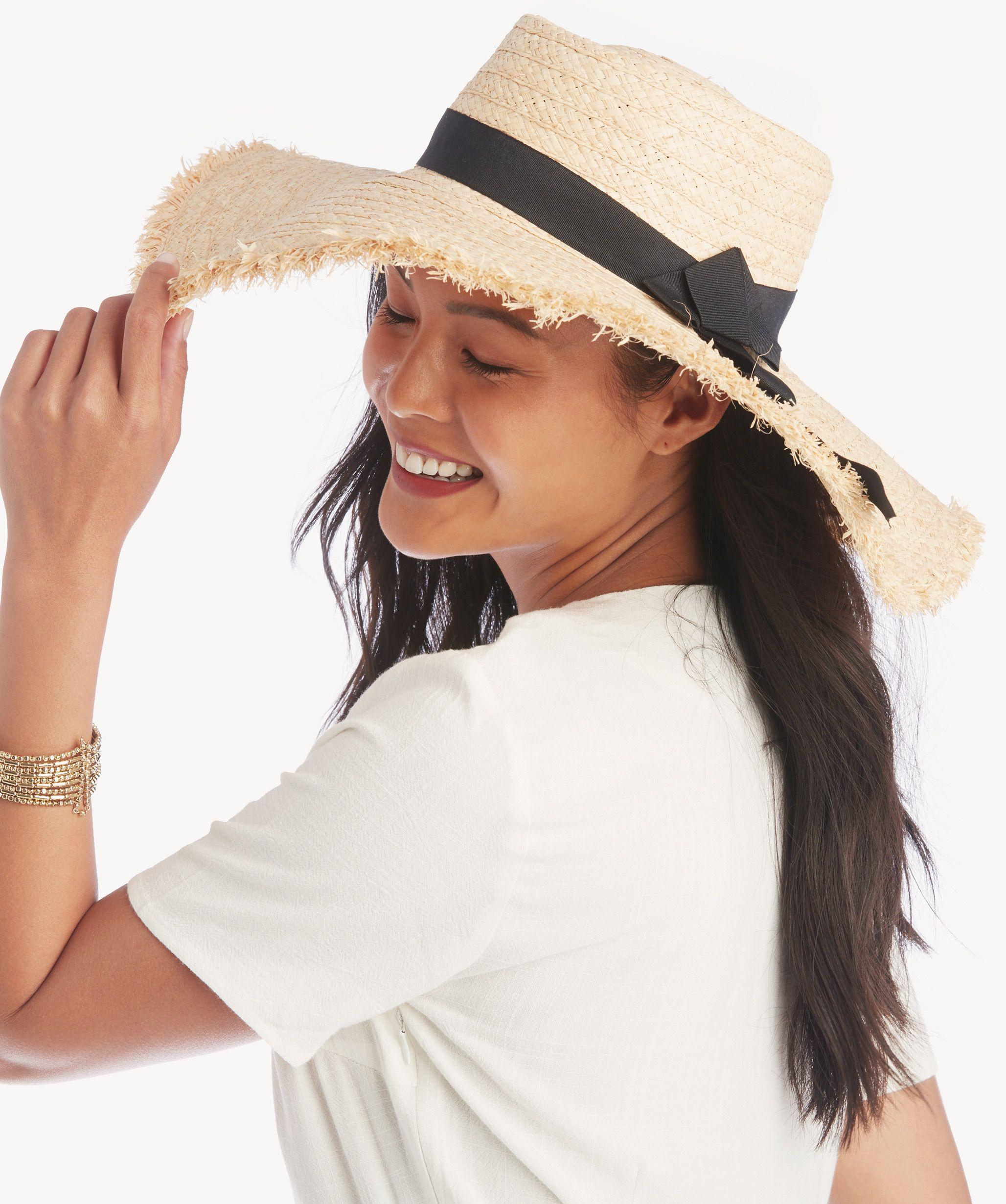 Lyst - Sole Society Textured Wide Brim Sun Hat in White 7717b18752d